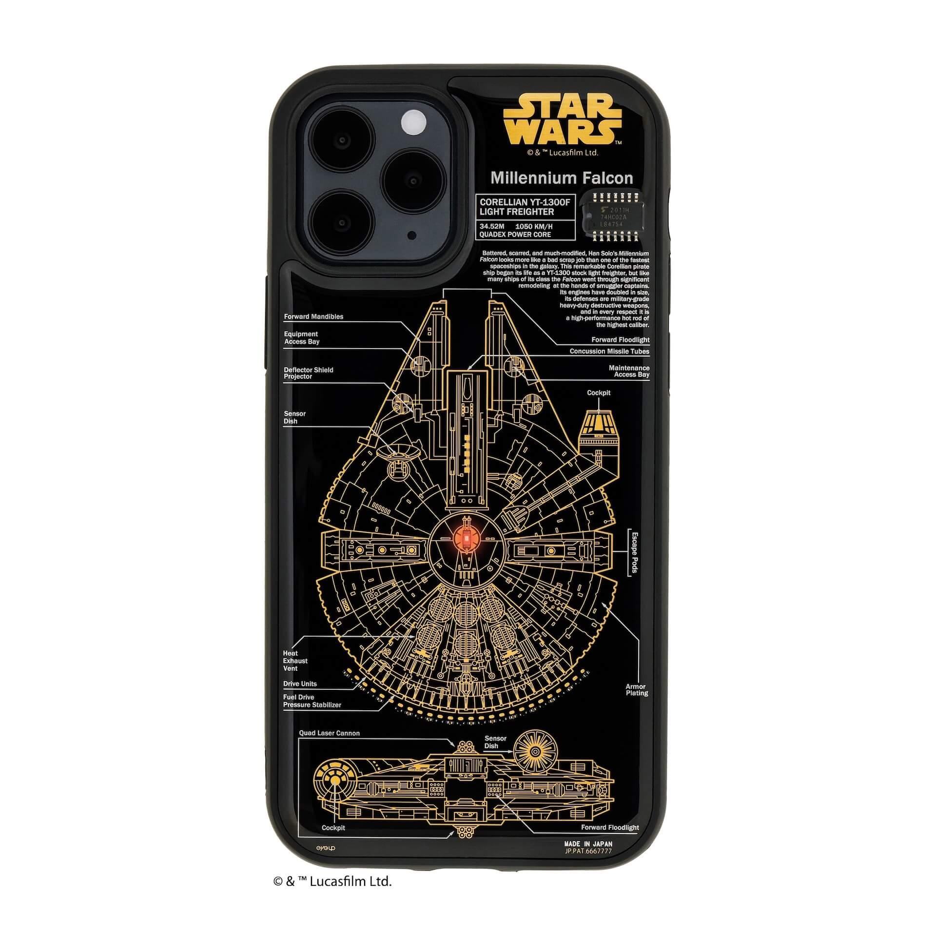 R2-D2、ミレニアム・ファルコンがLEDで光るiPhone 12用ケースに!「FLASHシリーズ」に『スター・ウォーズ』デザインが登場 technology201224_iphone12-case-06