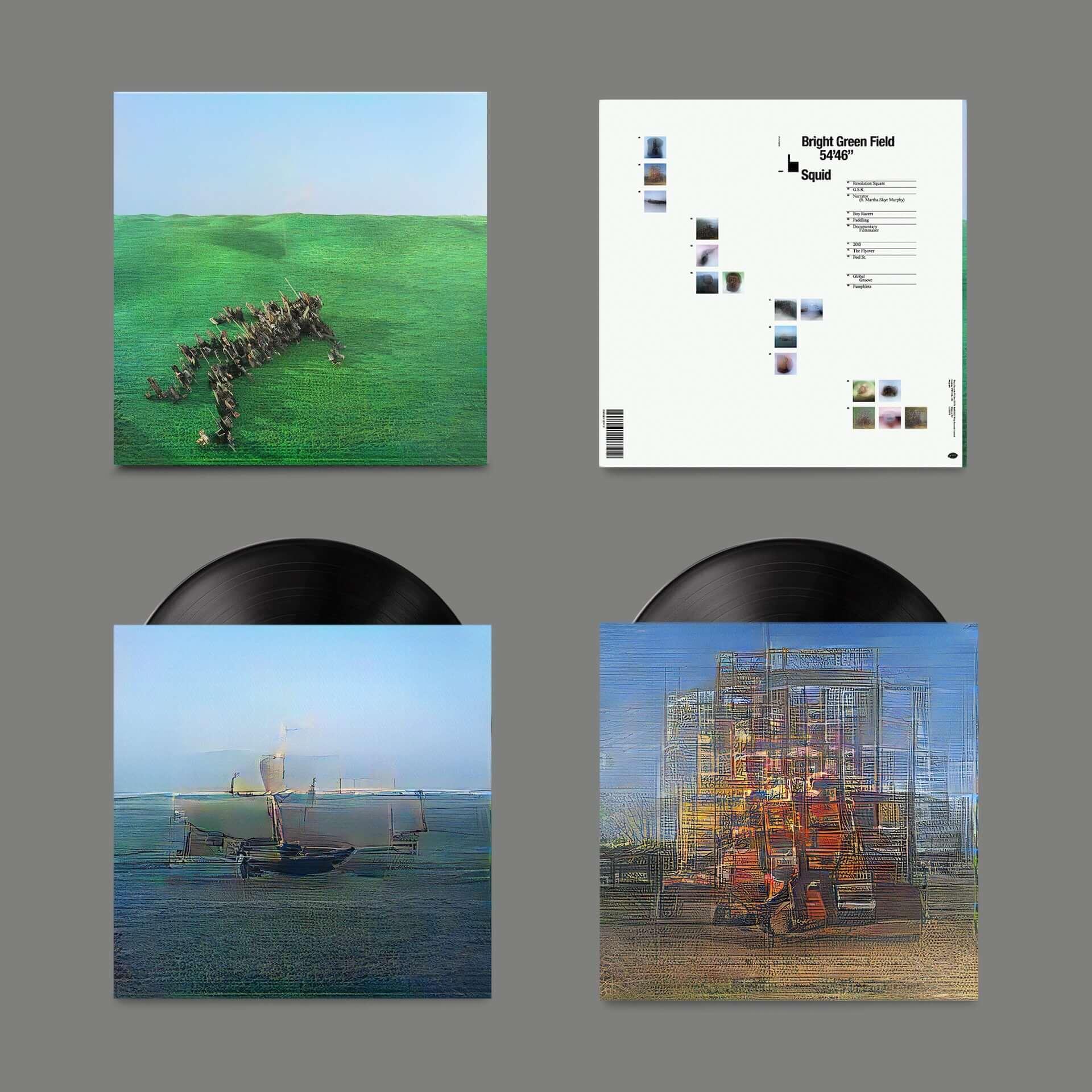 """次世代UKロックシーンの注目バンド・Squidがデビューアルバム『Bright Green Field』をリリース決定!収録曲""""Narrator""""MVが解禁 music210128_squid_3-1920x1920"""