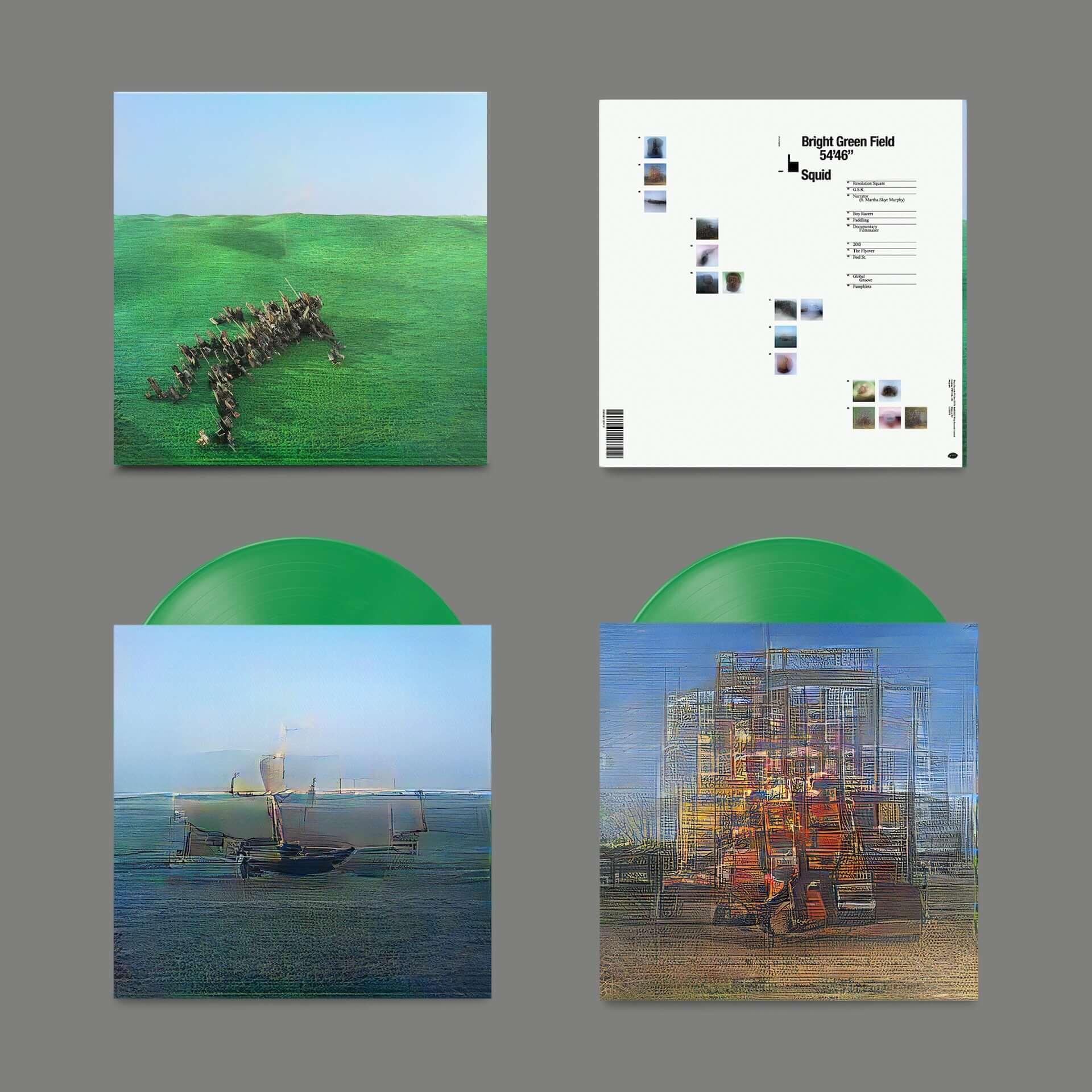 """次世代UKロックシーンの注目バンド・Squidがデビューアルバム『Bright Green Field』をリリース決定!収録曲""""Narrator""""MVが解禁 music210128_squid_2-1920x1920"""