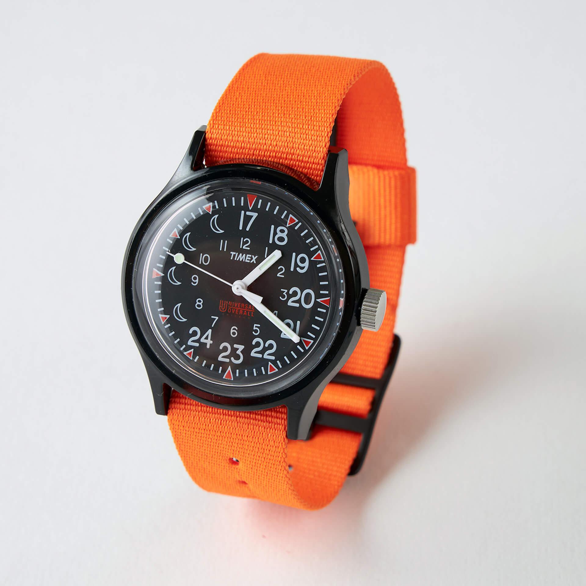 TIMEXとワークウェアブランドUNIVERSAL OVERALLがコラボ!17時が真上に配置された別注のリミテッドモデルが3月発売決定 life210212_timex_uo_2