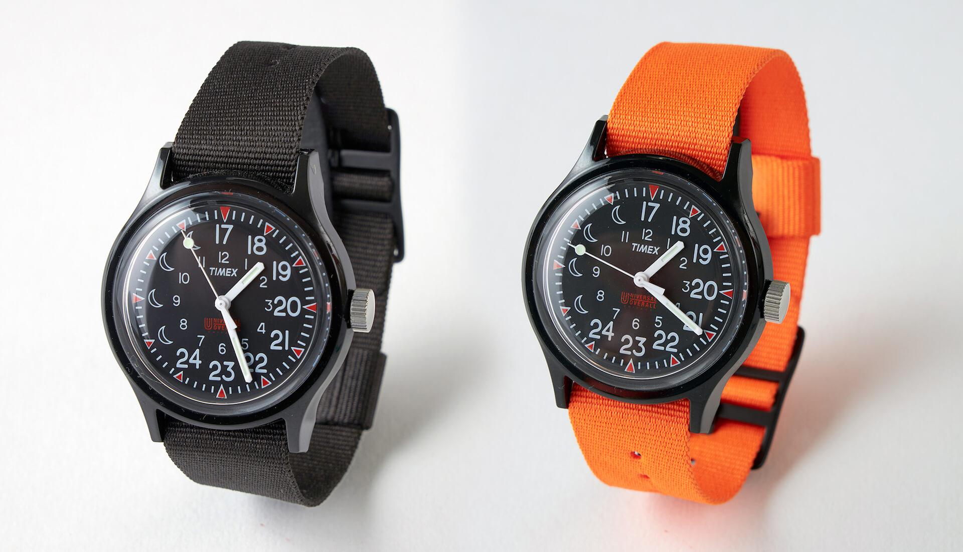 TIMEXとワークウェアブランドUNIVERSAL OVERALLがコラボ!17時が真上に配置された別注のリミテッドモデルが3月発売決定 life210212_timex_uo_4