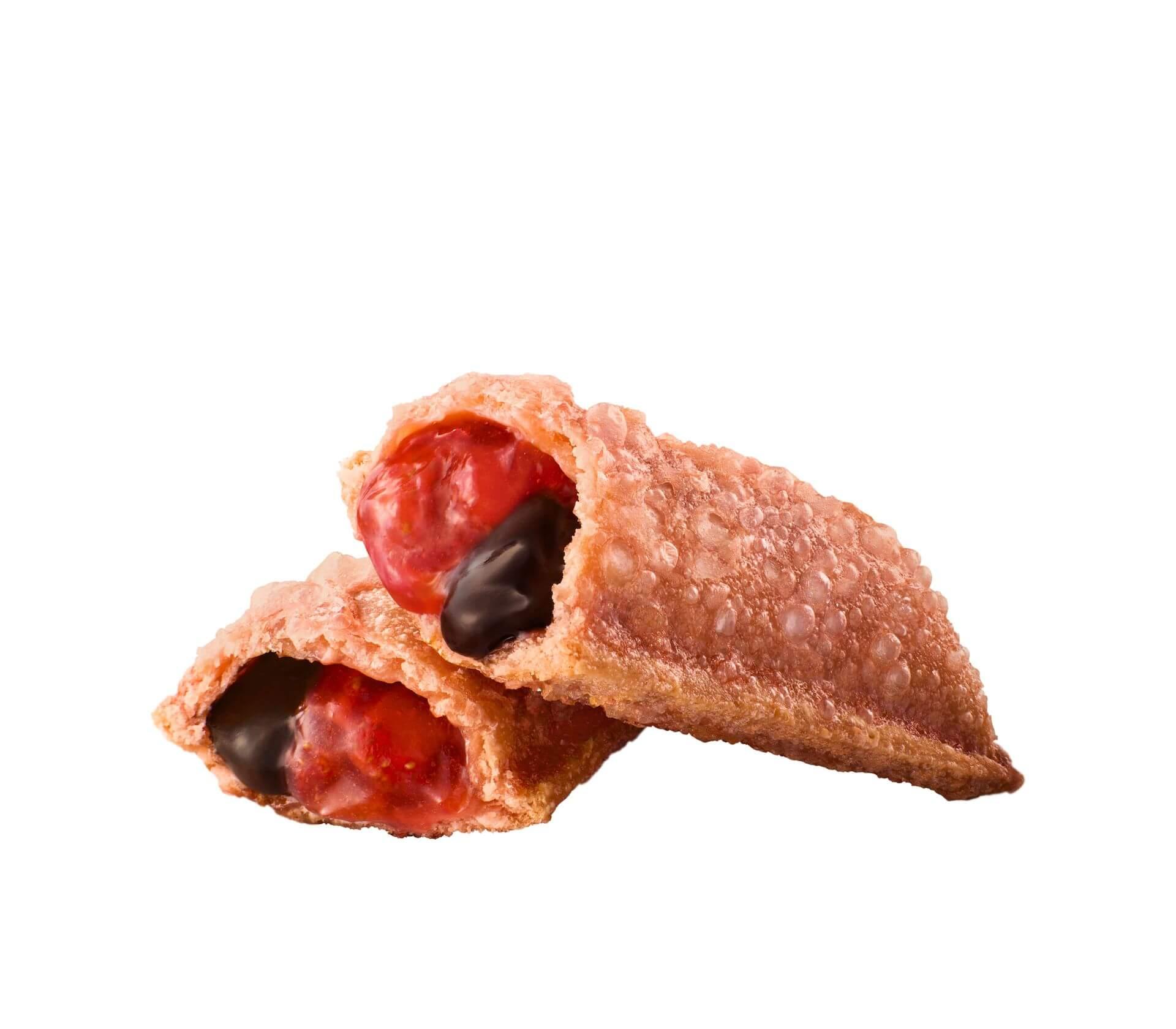 マクドナルドからチョコといちごが絡み合う新作フルーツパイ「ずるいチョコいちごパイ」が新登場!プレミアムローストコーヒーMサイズが100円で飲めるキャンペーンも gourmet210302_mcdonald_pie_4
