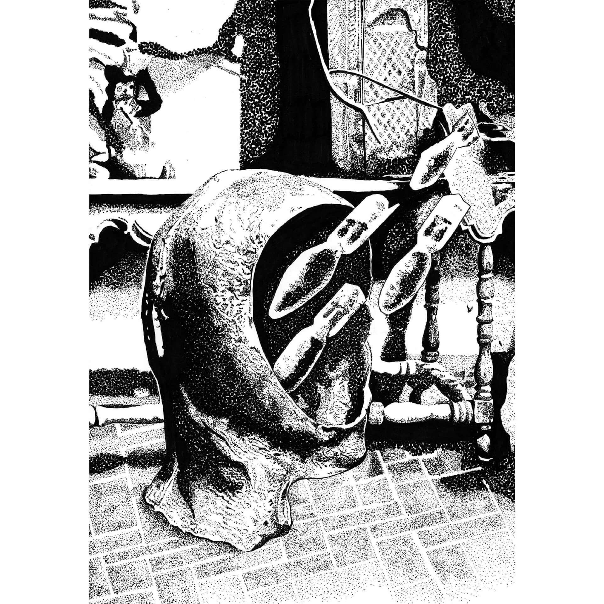 VJ・映像作家としても活躍する悳祐介の個展<DOTS>がLAID BUGにて開催決定!モノクロームの点描画作品を多数展示 art210304_yusuke-isao_2-1920x1919