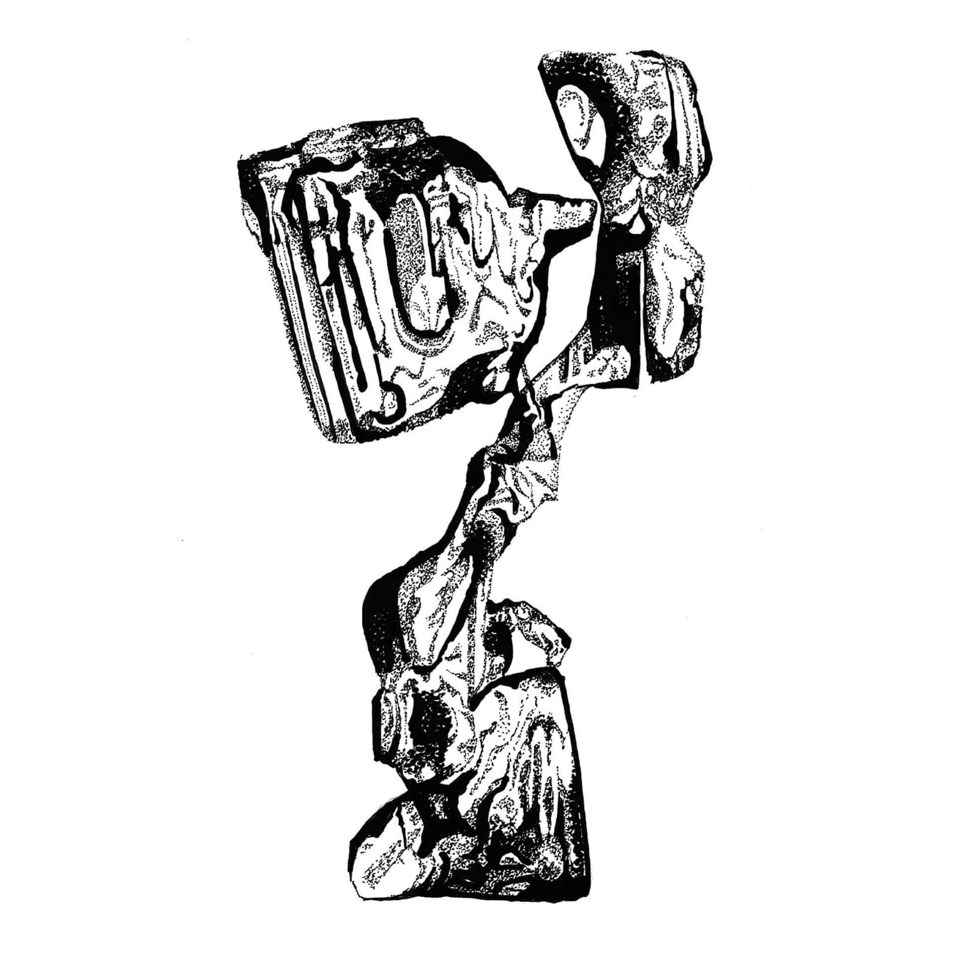 VJ・映像作家としても活躍する悳祐介の個展<DOTS>がLAID BUGにて開催決定!モノクロームの点描画作品を多数展示 art210304_yusuke-isao_20-1920x1919