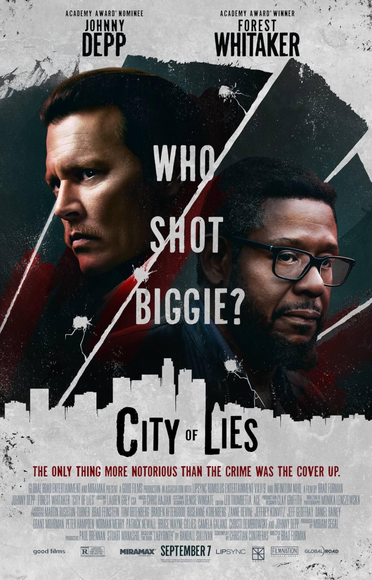 ビギーを撃ったのは誰なのか?暗殺事件の真相に迫るジョニー・デップ主演の映画『City Of Lies』の予告編がノトーリアス・B.I.G.の命日に解禁 film210310_cityoflies_main