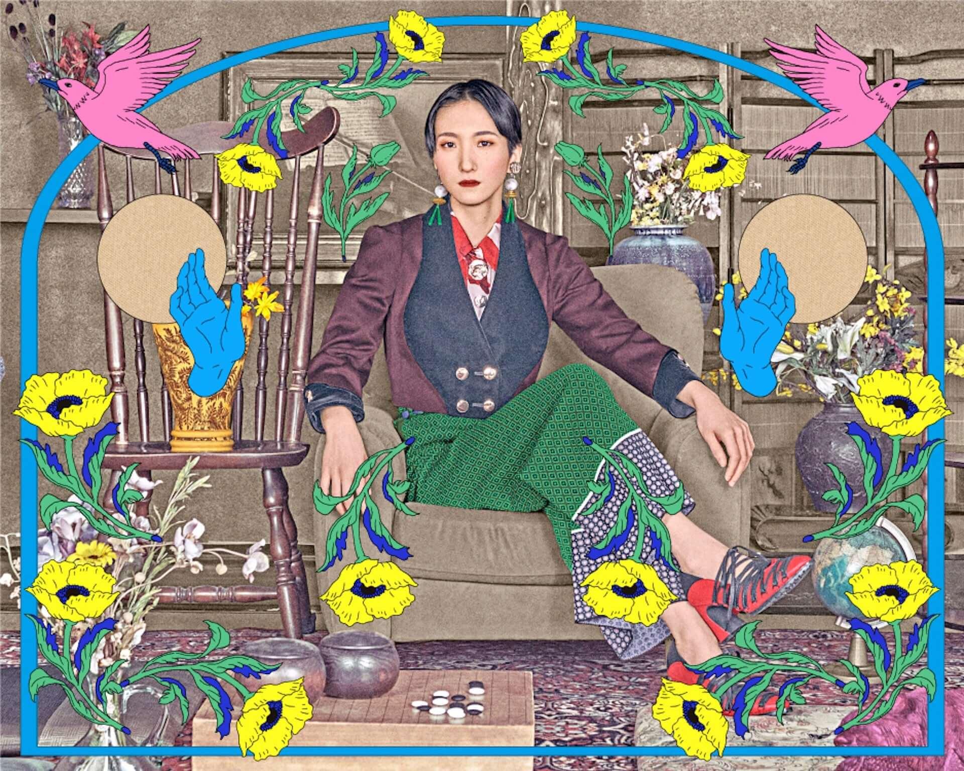 """日食なつこが本日リリースのニューシングル""""音楽のすゝめ""""MVを公開!カラーガードチーム・Via Colorguardも出演 music210310_nisshoku-natsuko_1-1920x1535"""
