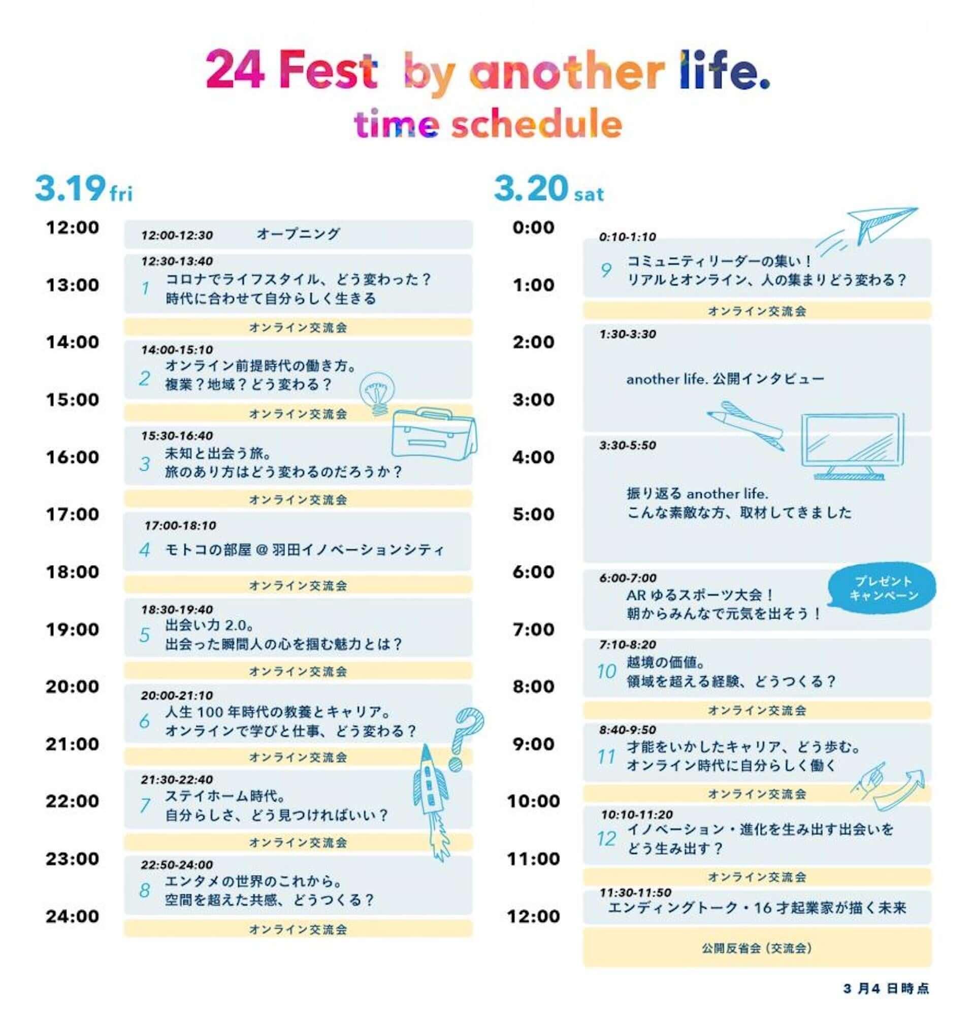 個人の生き方を考える24時間オンライン交流イベント<24 Fest by another life.>が今週末開催!作曲家、起業家など50名が参加 art210316_anotherlife24_9-1920x2011
