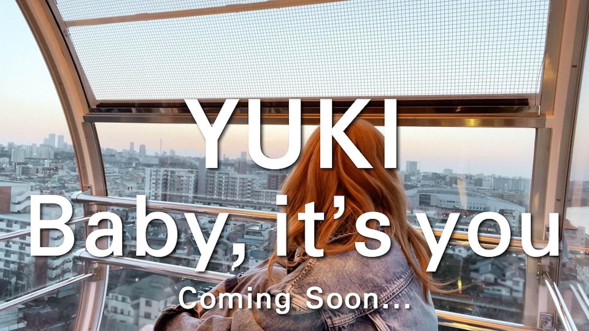 "YUKIのニューシングル『Baby, it's you / My lovely ghost』の""Baby, it's you""ティザー映像が解禁!観覧車に乗るYUKIに注目 music210317_yuki_mv_2"