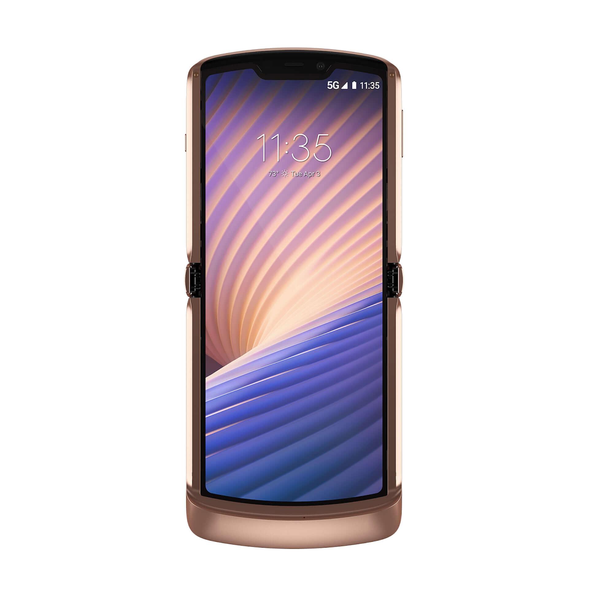 折りたたみ式5G対応スマホ『motorola razr 5G』に限定カラー「Blush Gold」が登場!+Styleにて国内独占販売 tech210319_motorola-razr-5G_3-1920x1920