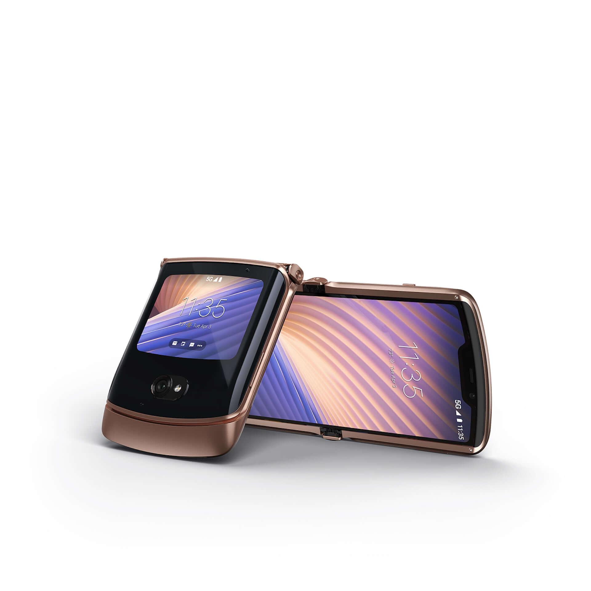 折りたたみ式5G対応スマホ『motorola razr 5G』に限定カラー「Blush Gold」が登場!+Styleにて国内独占販売 tech210319_motorola-razr-5G_4-1920x1920