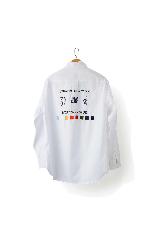 ジャズ漫画『BLUE GIANT』と「ブルックス ブラザーズ」のコラボ企画が大阪で明日開幕!シャツの刺繍サービスやマルチケースのプレゼントも art210322_brooksbrothers-bluegiant_2-1920x2880