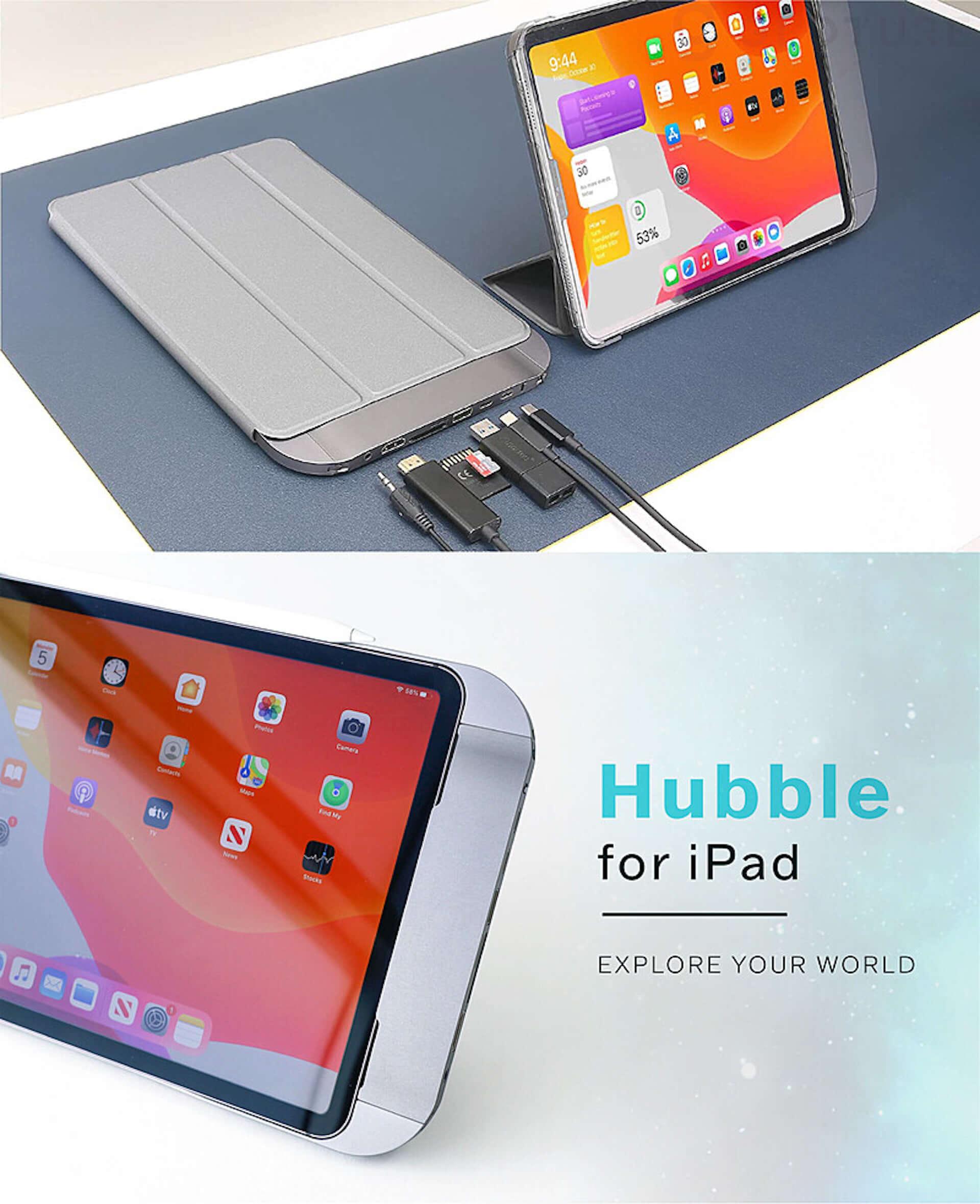 iPad Proの機能を強化できるハイエンドケース『FLEDGING HUBBLE』がGLOTURE.JPに登場!HDMIなど6つの拡張ポートを搭載 tech210323_gloture_2-1920x2359