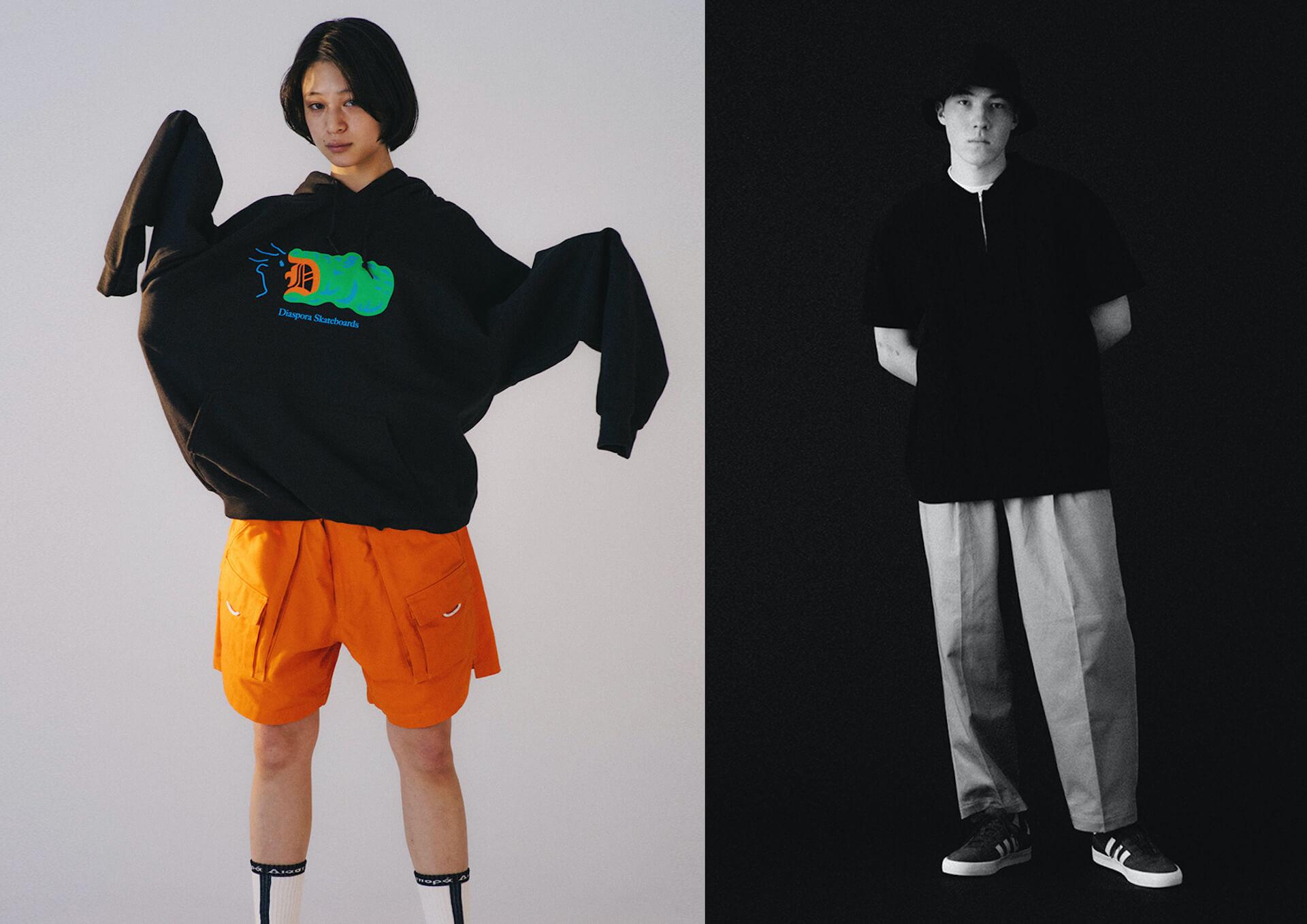 Diaspora skateboardsが2021SSのルックビジュアルを公開!モデルにはmiuらを起用 fashion210225_diasporaskateboards-09