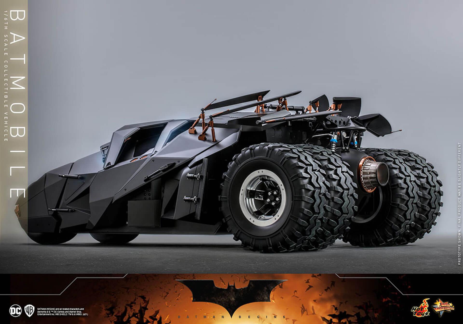 『バットマン ビギンズ』のバットマン&バットモービルが超精巧なフィギュアに!ホットトイズから発売決定 art210401_hottoys_batmanbegins_3