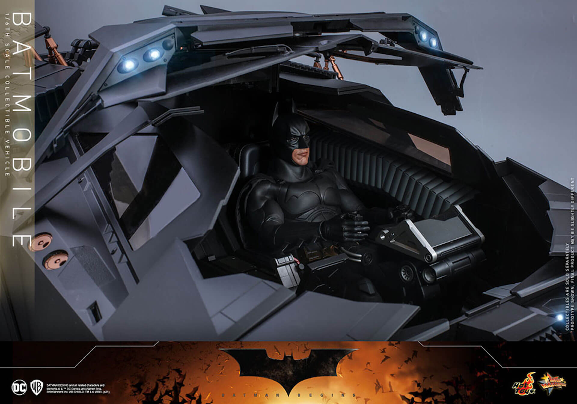 『バットマン ビギンズ』のバットマン&バットモービルが超精巧なフィギュアに!ホットトイズから発売決定 art210401_hottoys_batmanbegins_4