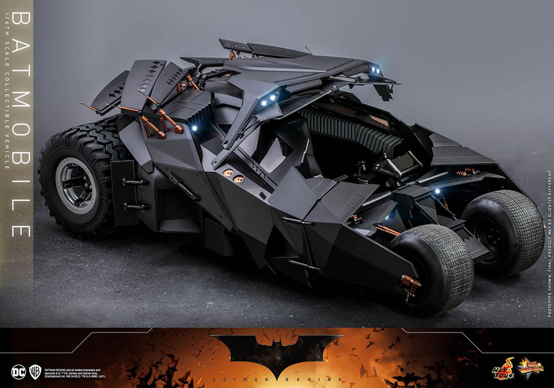 『バットマン ビギンズ』のバットマン&バットモービルが超精巧なフィギュアに!ホットトイズから発売決定 art210401_hottoys_batmanbegins_5