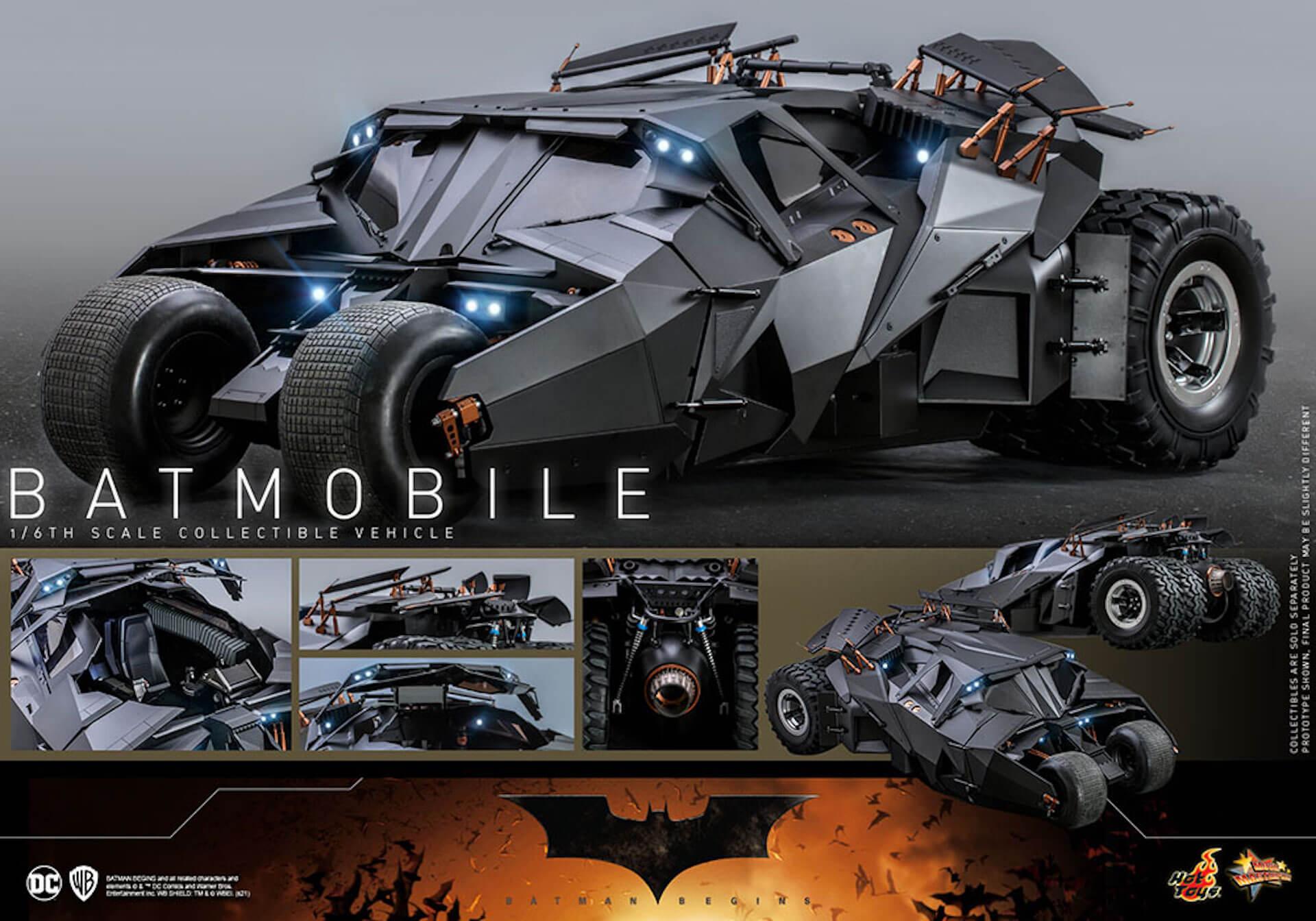 『バットマン ビギンズ』のバットマン&バットモービルが超精巧なフィギュアに!ホットトイズから発売決定 art210401_hottoys_batmanbegins_7