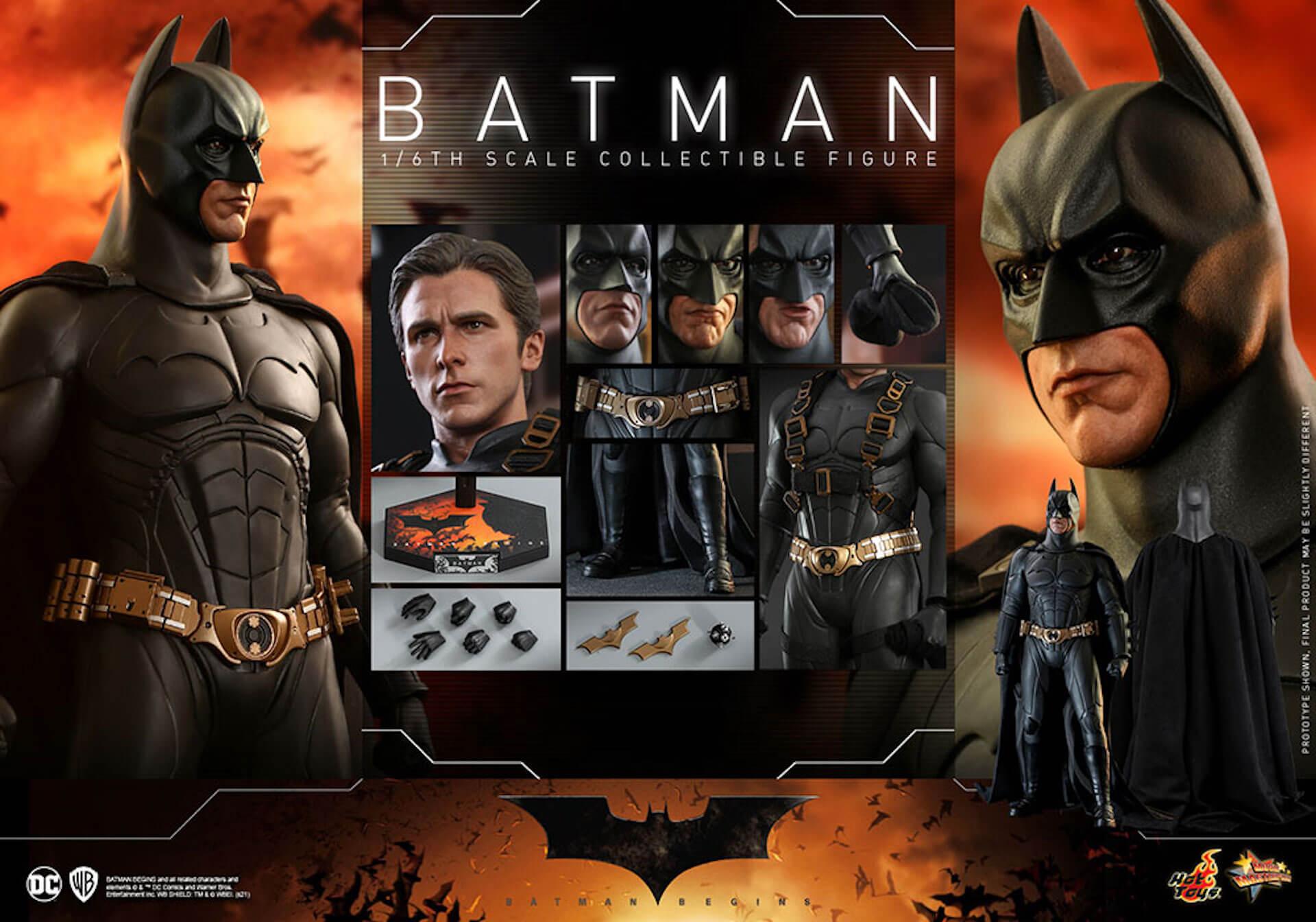 『バットマン ビギンズ』のバットマン&バットモービルが超精巧なフィギュアに!ホットトイズから発売決定 art210401_hottoys_batmanbegins_13