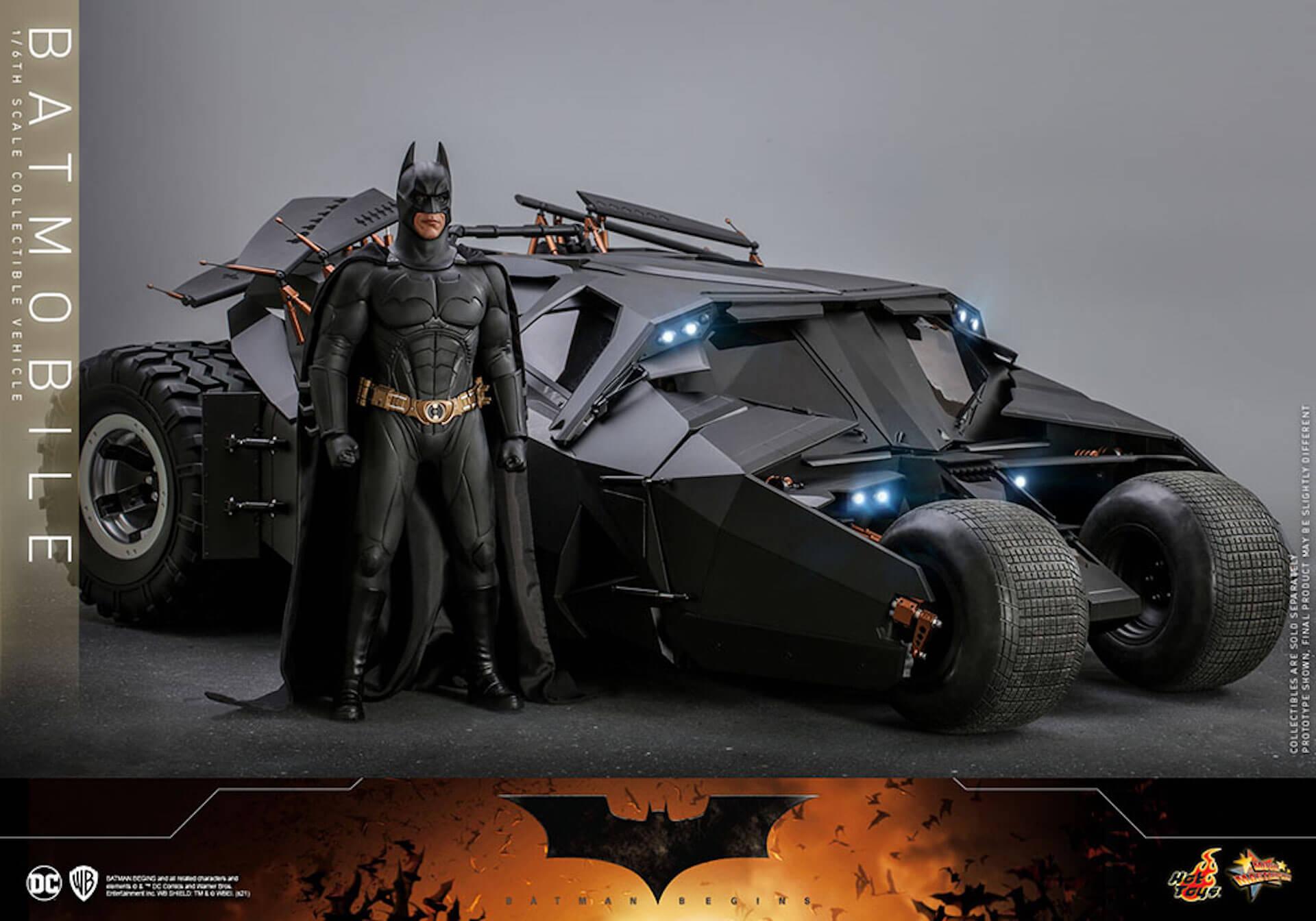 『バットマン ビギンズ』のバットマン&バットモービルが超精巧なフィギュアに!ホットトイズから発売決定 art210401_hottoys_batmanbegins_1