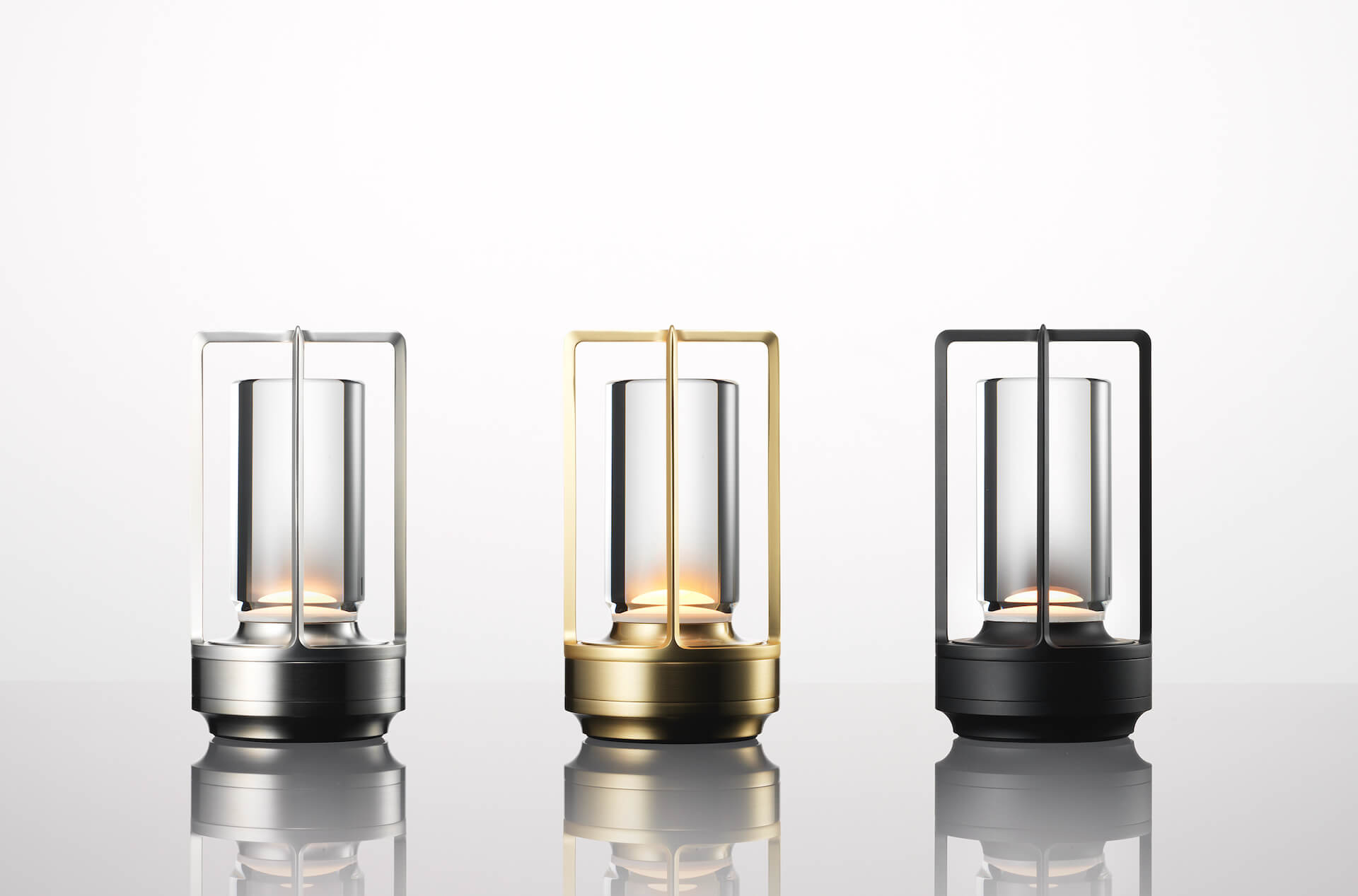 アンビエント照明「TURN+」が発売決定|ステンレス、真鍮、アルミブラックの3種 tech210407_turnplus_3