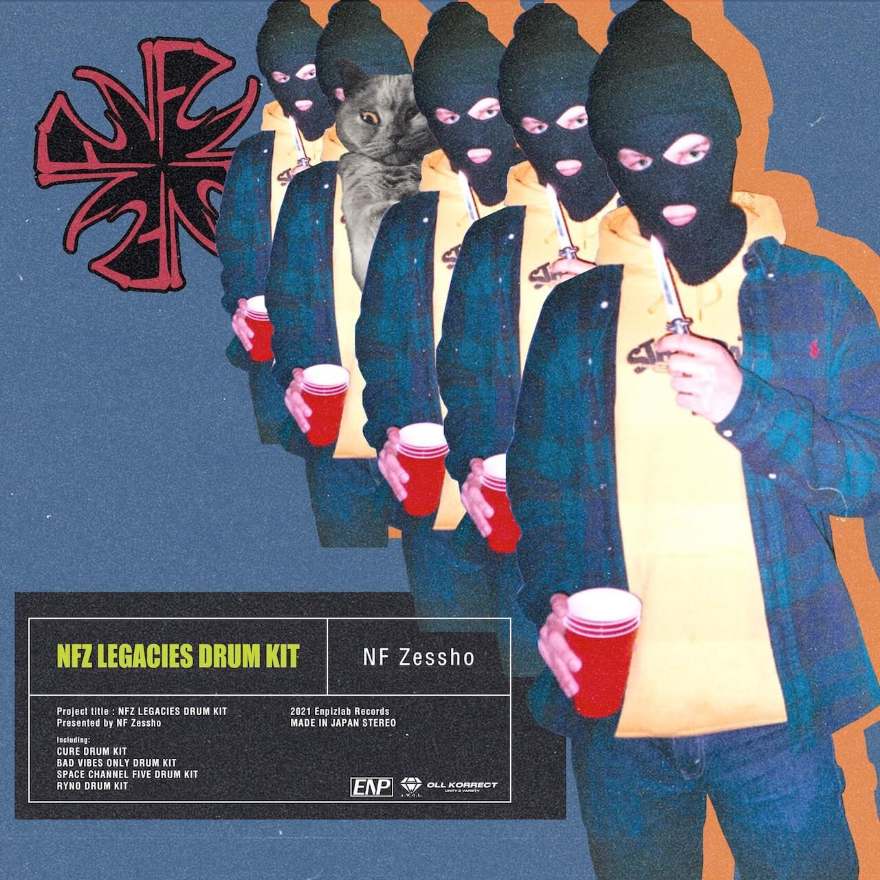 "NF Zessho、""自身のレガシーをコンパイル""したドラムキット「NFZ LEGACIES DRUM KIT」をリリース music210908-nfzessho"