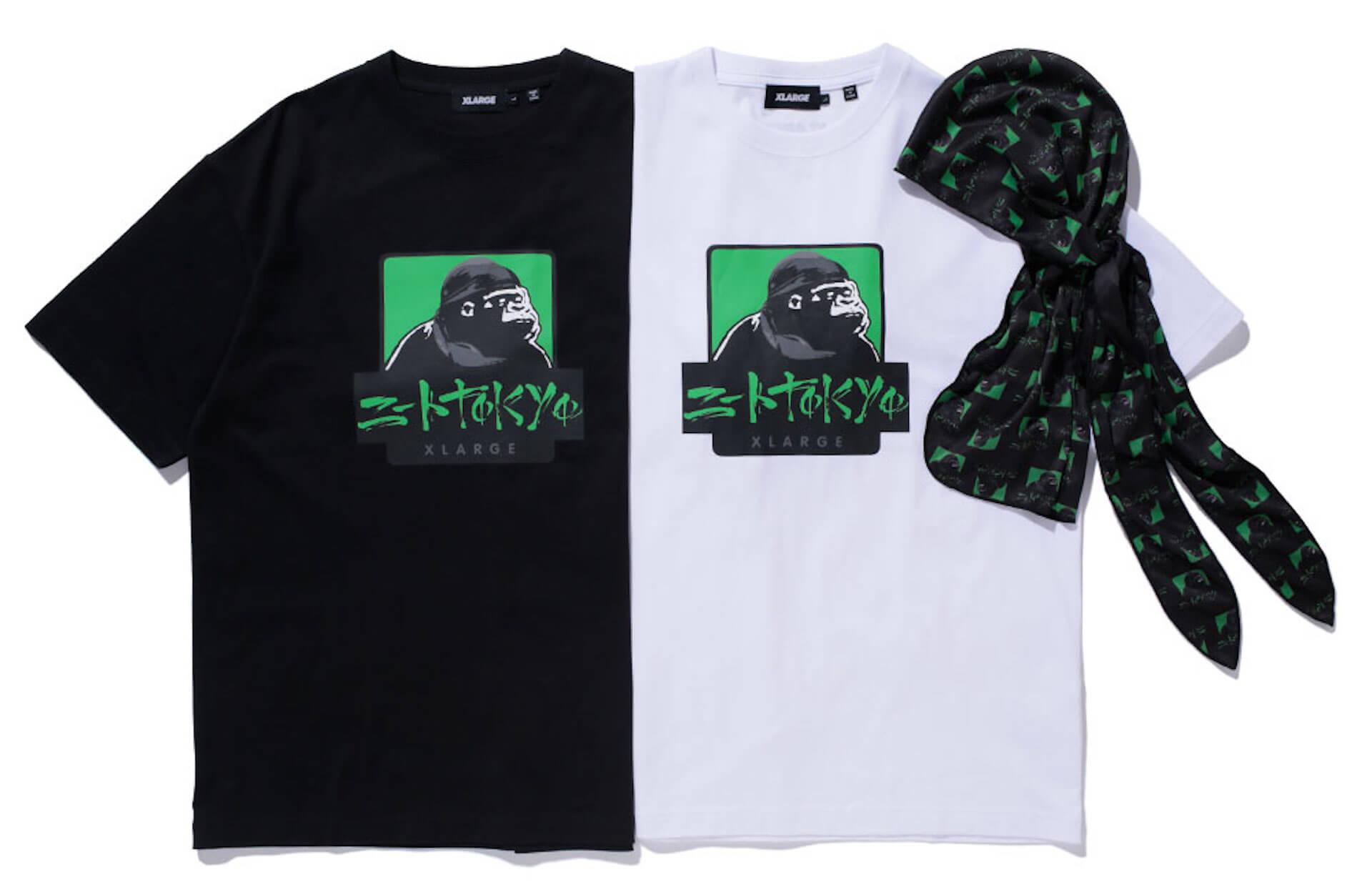 XLARGEとニートtokyoのコラボアイテムが4月20日発売!OGゴリラとのコラボロゴを配したTシャツ&ドゥーラグが登場 life210412_xlarge_neettokyo_3