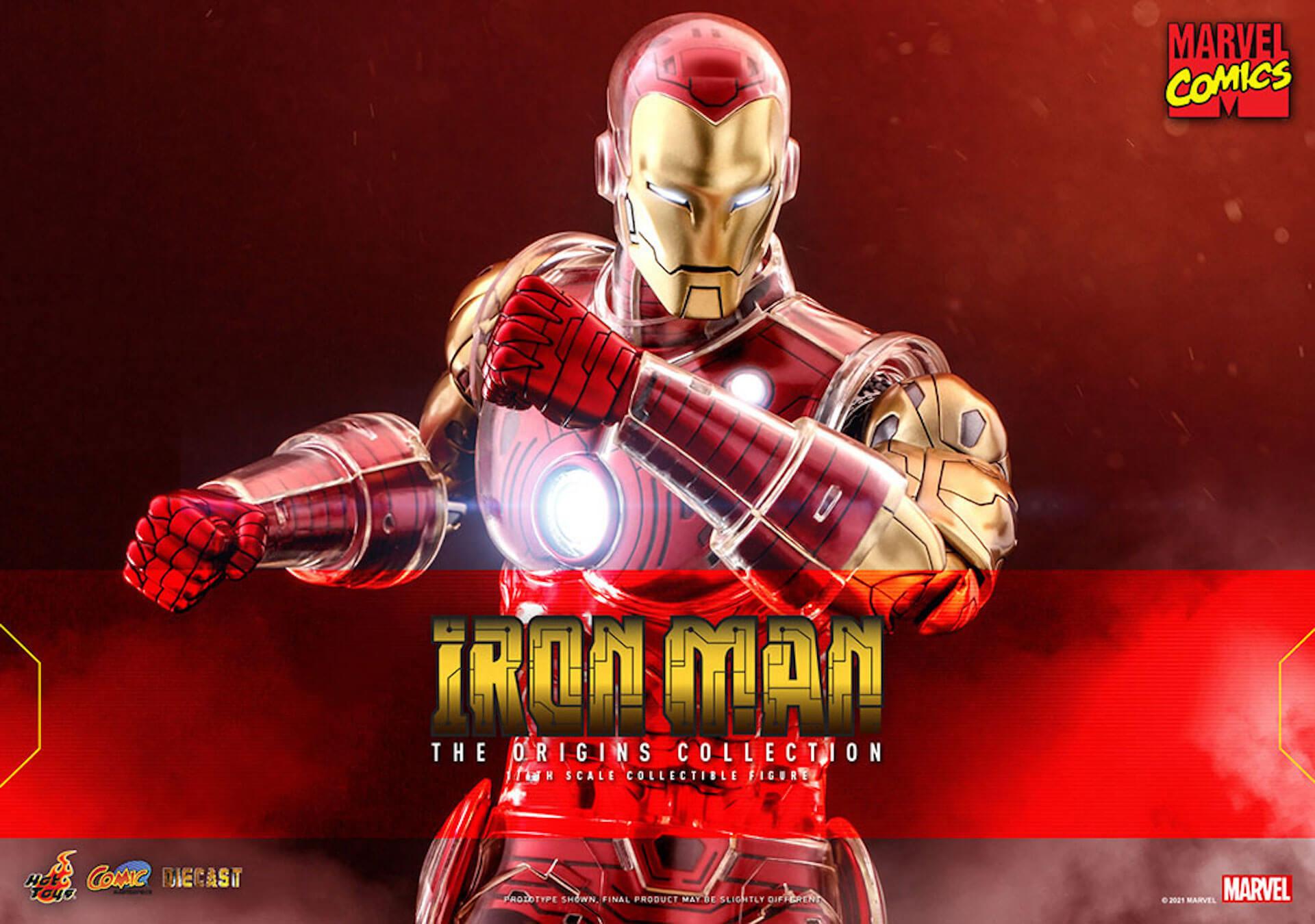 マーベルコミック版のアイアンマンをリアルに再現!ホットトイズ「コミック・マスターピース DIECAST」に登場 art210414_ironman_hottoys_1