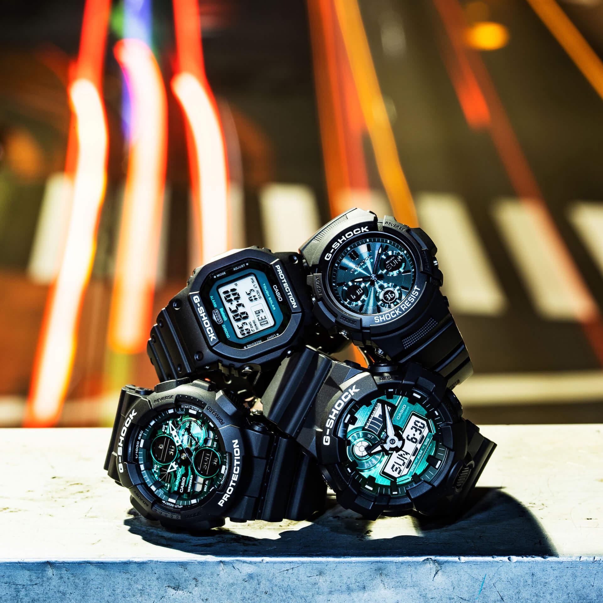 ブラック×グリーンが映えるG-SHOCKの新シリーズ「Black and Green Series」が登場! tech210415_gshock_8