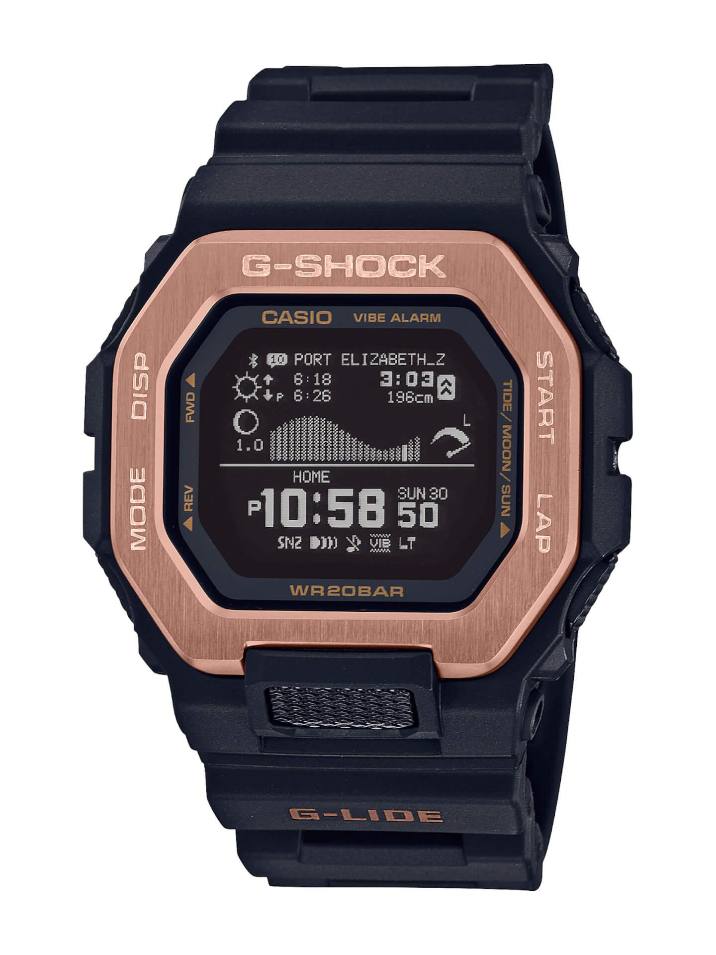 サーファーからの支持も得るG-SHOCK「G-LIDE」にナイトサーフィン向けの新色が登場!スマホと連携可能な人気モデル tech210415_gshock_glide_4