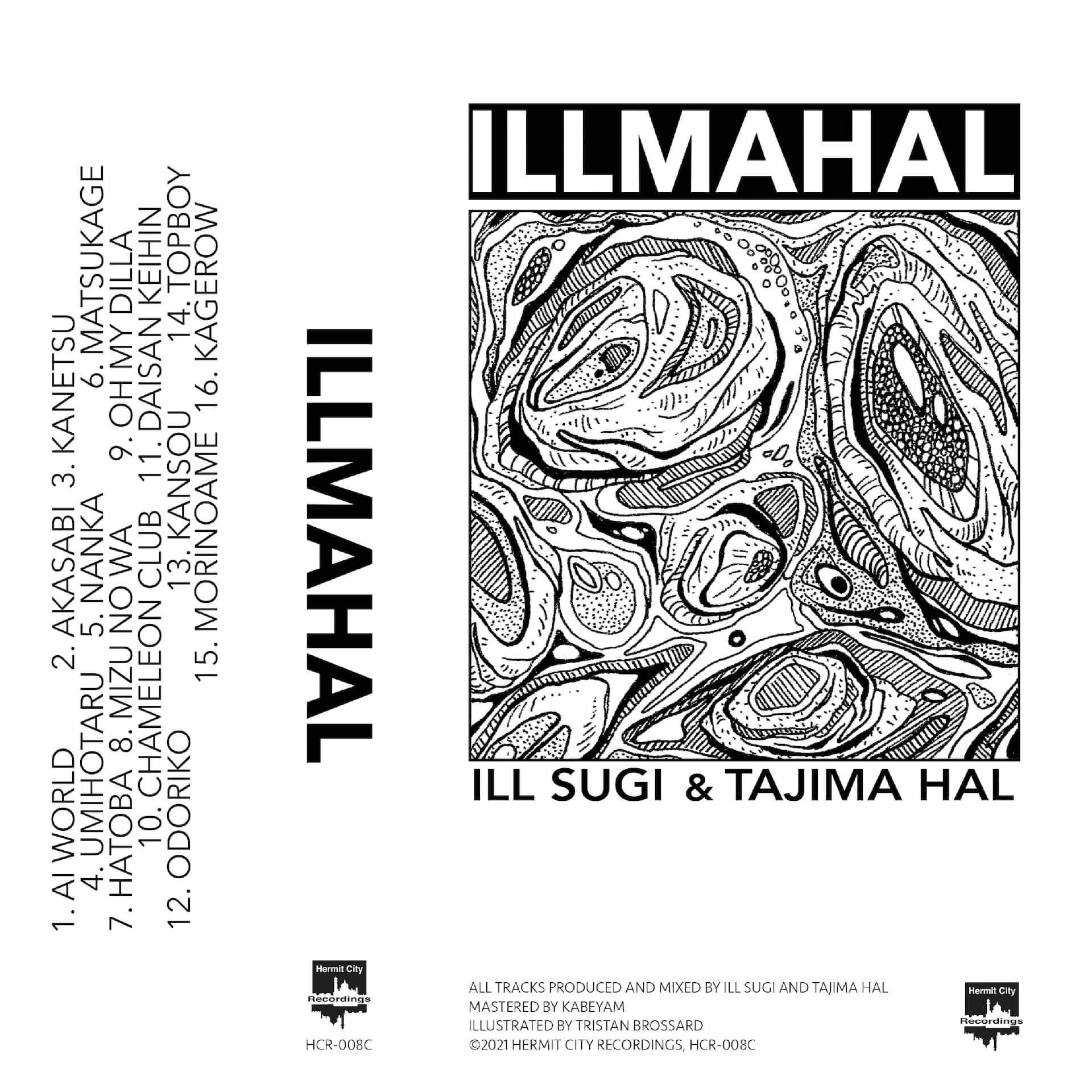 tajima halとILL SUGIのジョイント作『ILLMAHAL』が明日4月20日リリース!カセット&CDも発売 music210419_illmahal_1