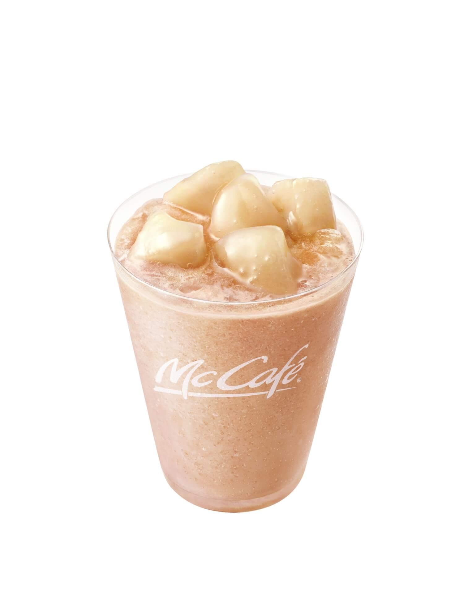 マクドナルド「マックカフェ」の定番「もものスムージー」が桃感アップで新登場!フラッペも発売 gourmet210420_mcdonald_momo_4