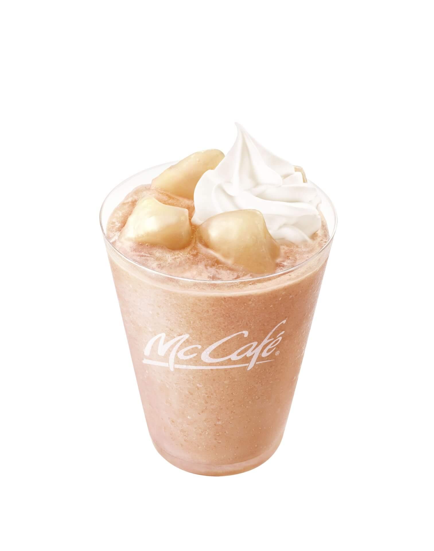 マクドナルド「マックカフェ」の定番「もものスムージー」が桃感アップで新登場!フラッペも発売 gourmet210420_mcdonald_momo_1