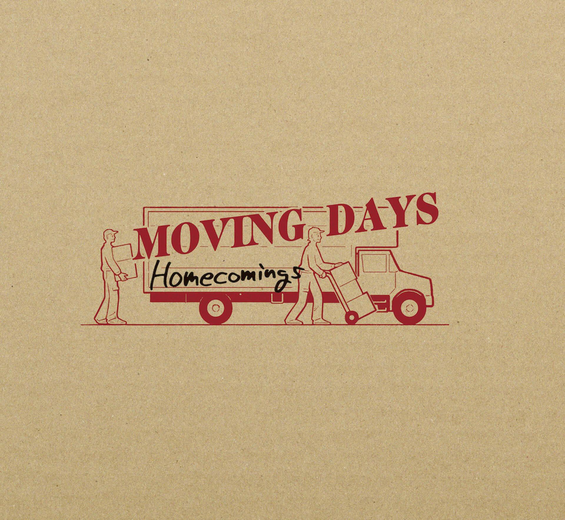 Homecomingsのメジャーデビューアルバム『Moving Days』全曲の一部を収録したクロスフェード動画が解禁! music210511_homecomings_3