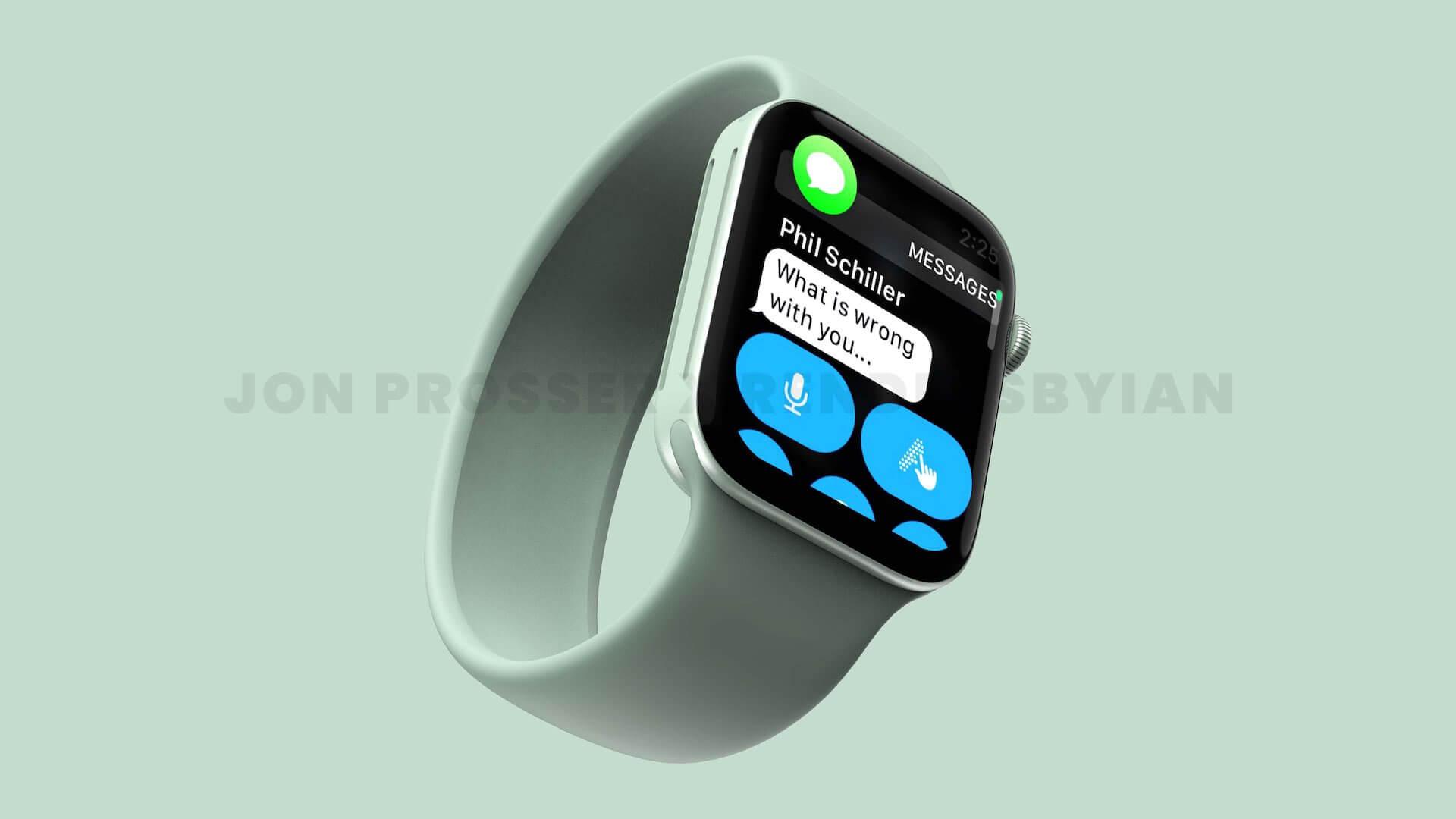 Apple Watch Series 7はデザインが刷新する!?レンダリング画像が公開 tech210520_applewatch7_1