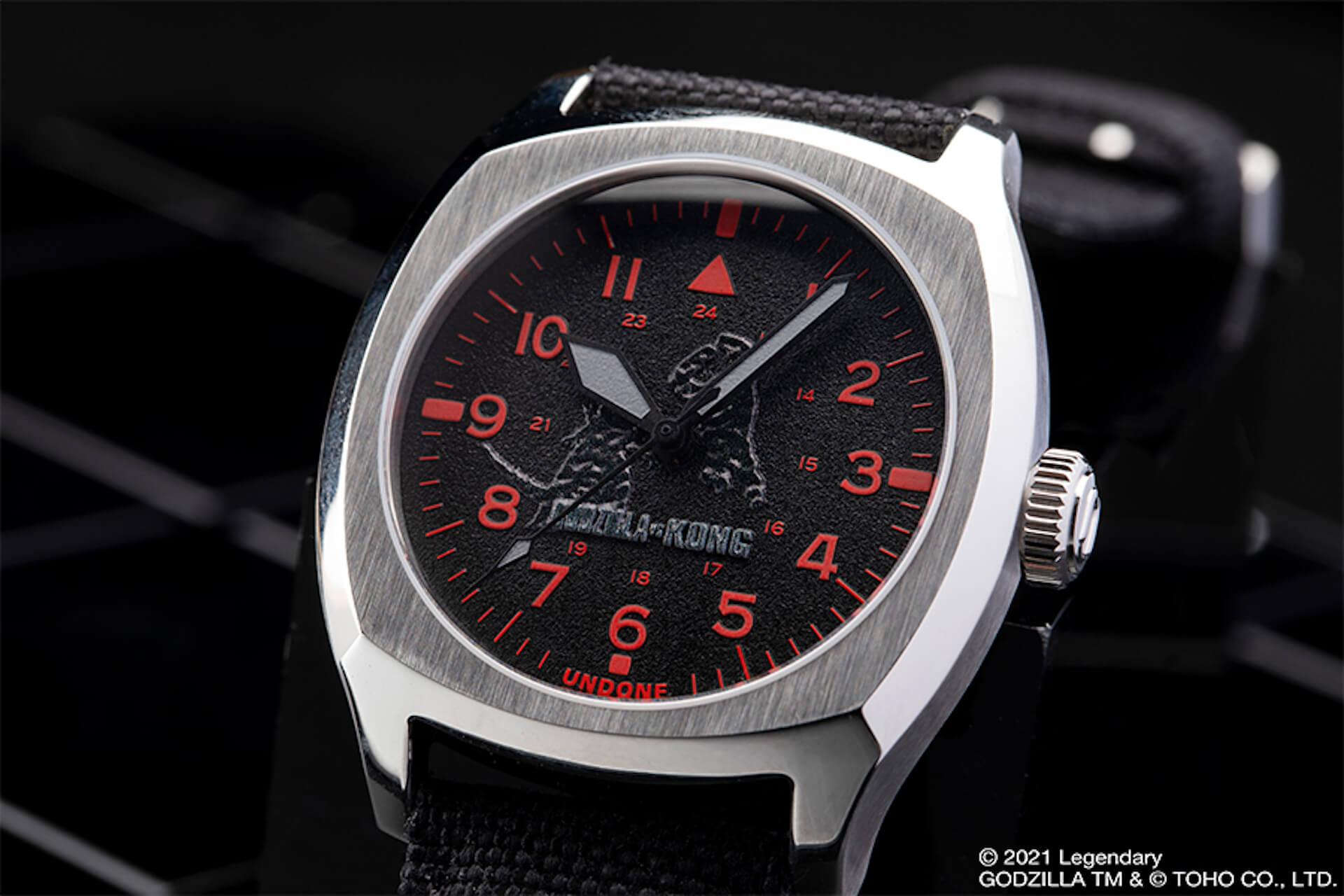 ゴジラとキングコングが腕時計に!UNDONEと『ゴジラvsコング』のコラボウォッチ2モデルが登場 tech210520_undone_godzilla_10
