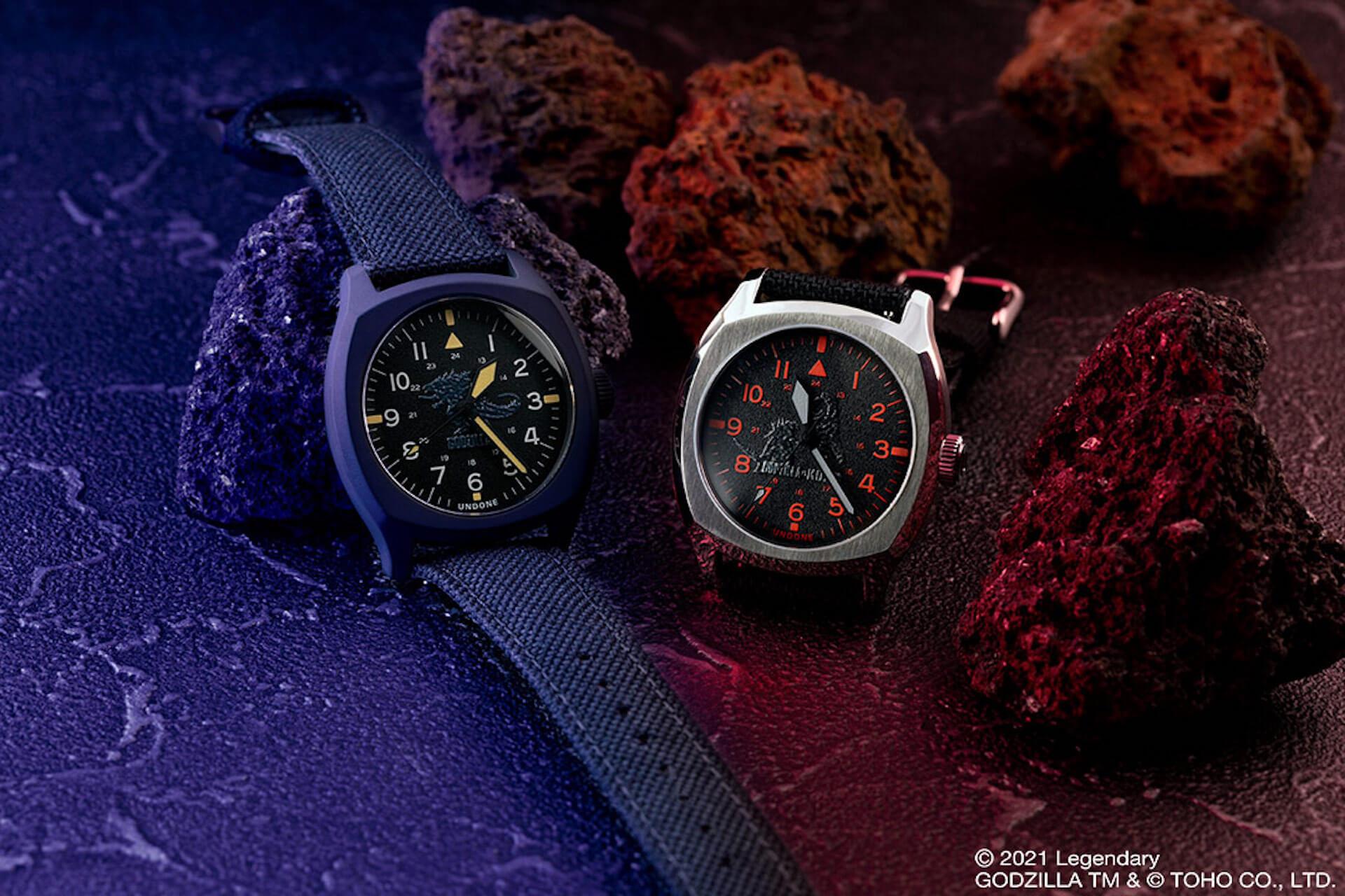 ゴジラとキングコングが腕時計に!UNDONEと『ゴジラvsコング』のコラボウォッチ2モデルが登場 tech210520_undone_godzilla_8