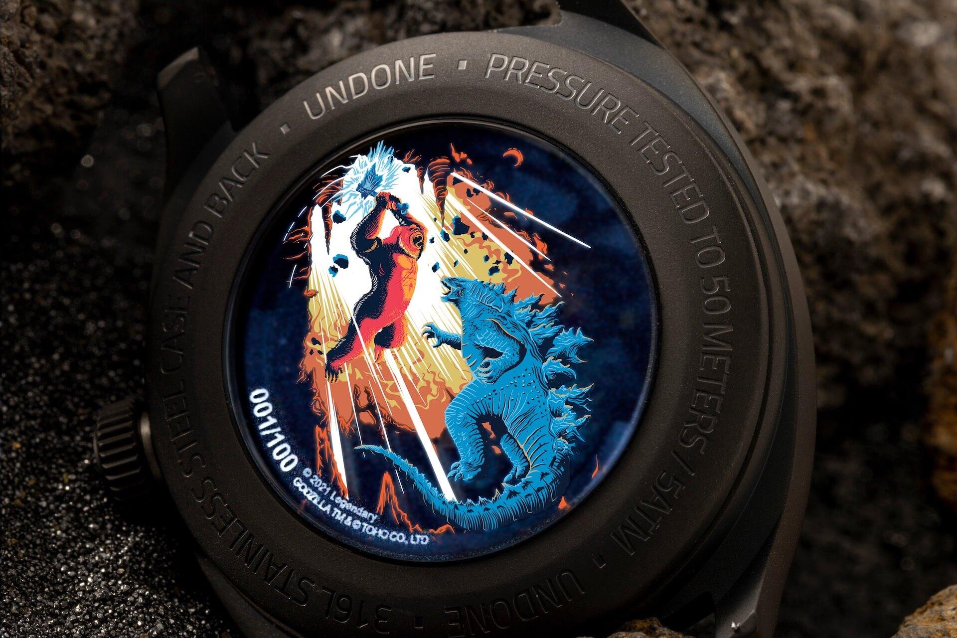 ゴジラとキングコングが腕時計に!UNDONEと『ゴジラvsコング』のコラボウォッチ2モデルが登場 tech210520_undone_godzilla_3