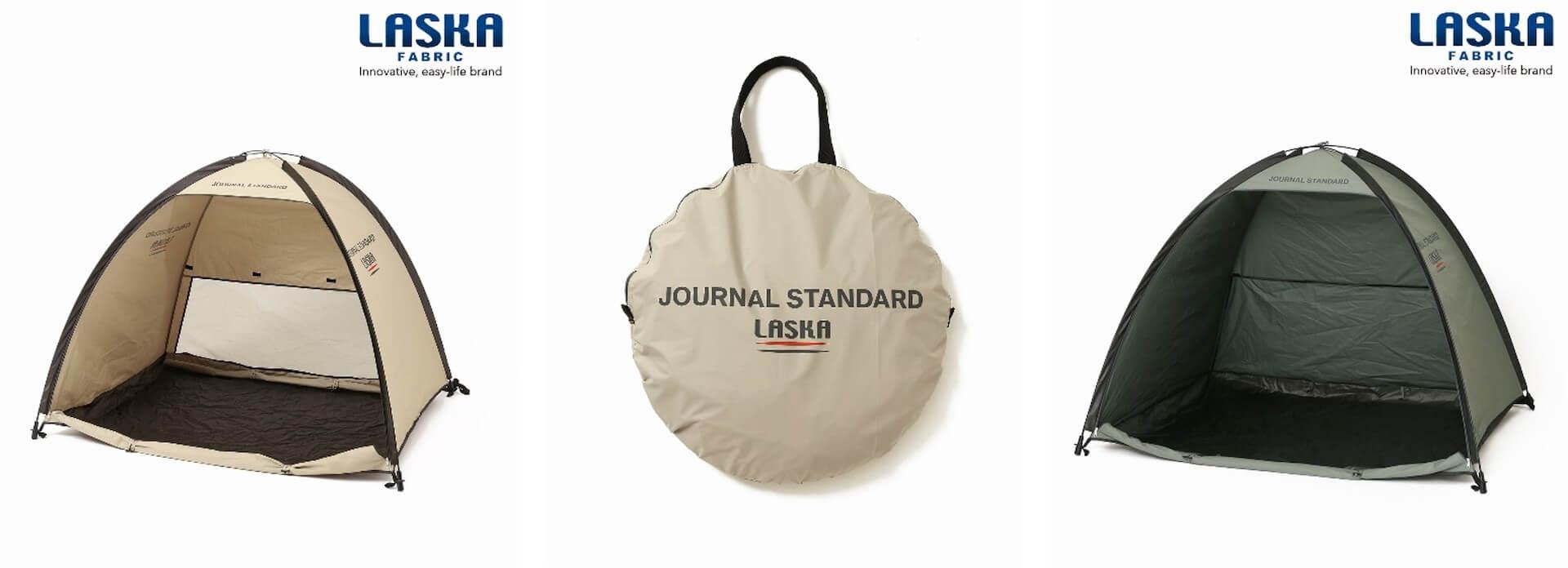 JOURNAL STANDARDの『LASKA PLAY』にポンチョ、テントなど梅雨シーズンにも利用できるアウトドア向けアイテム4点が登場! life210525_journalstandard_laska_2
