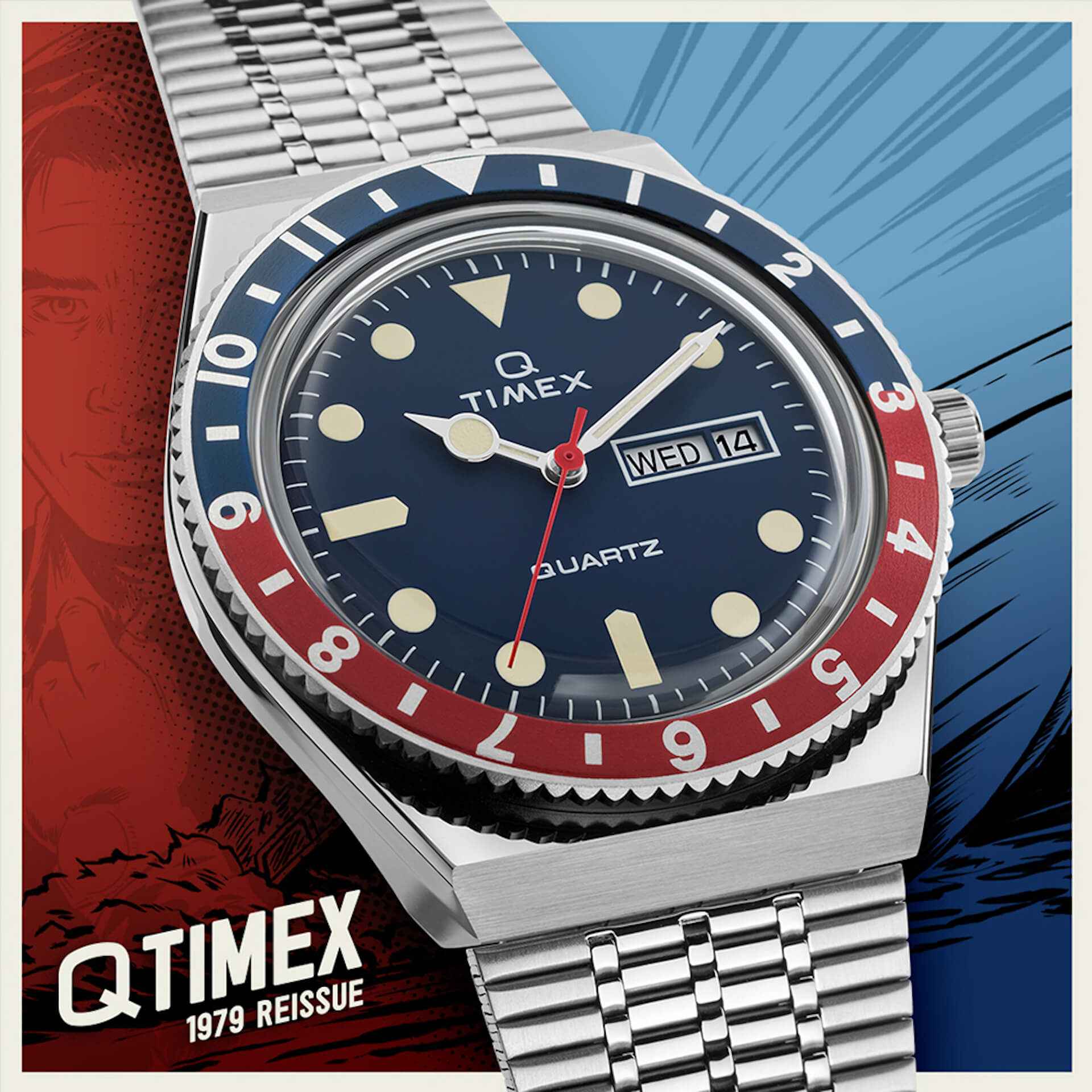 TIMEXの「Q TIMEX」シリーズ『M79』に新色ブラック×レッドカラーが登場!本日予約受付開始 tech210528_qtimex_5