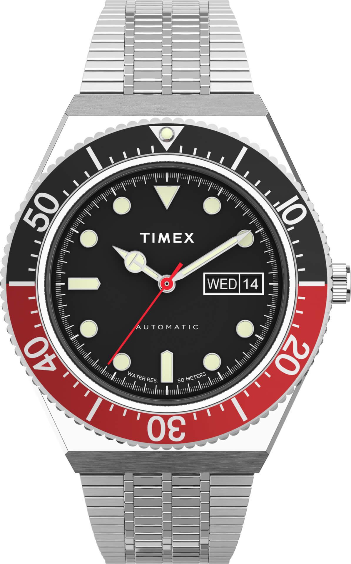 TIMEXの「Q TIMEX」シリーズ『M79』に新色ブラック×レッドカラーが登場!本日予約受付開始 tech210528_qtimex_2