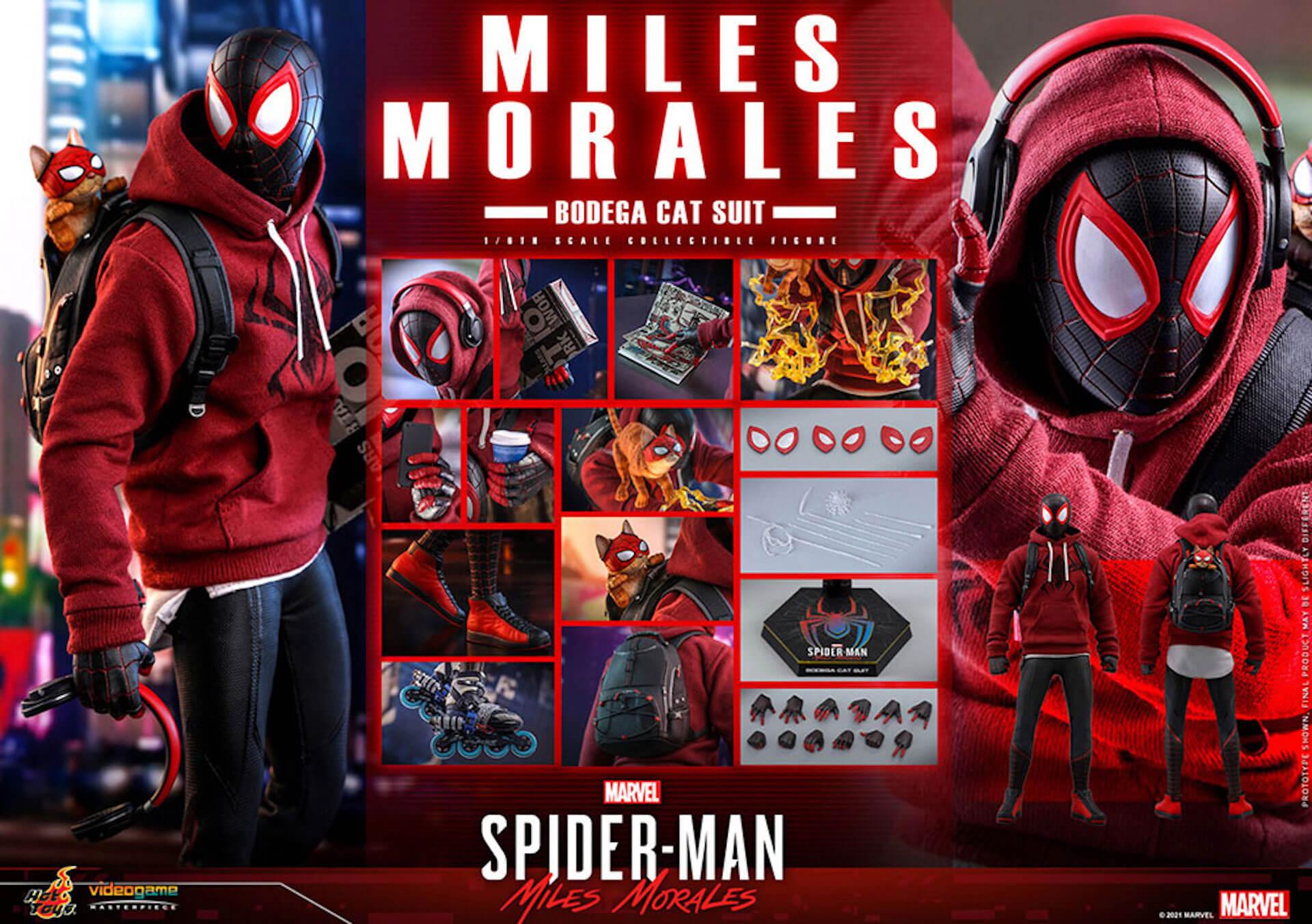 『Marvel's Spider-Man:Miles Morales』のスパイダーマンがホットトイズで超精巧なフィギュアになって登場! art210601_spiderman_hottoys_1