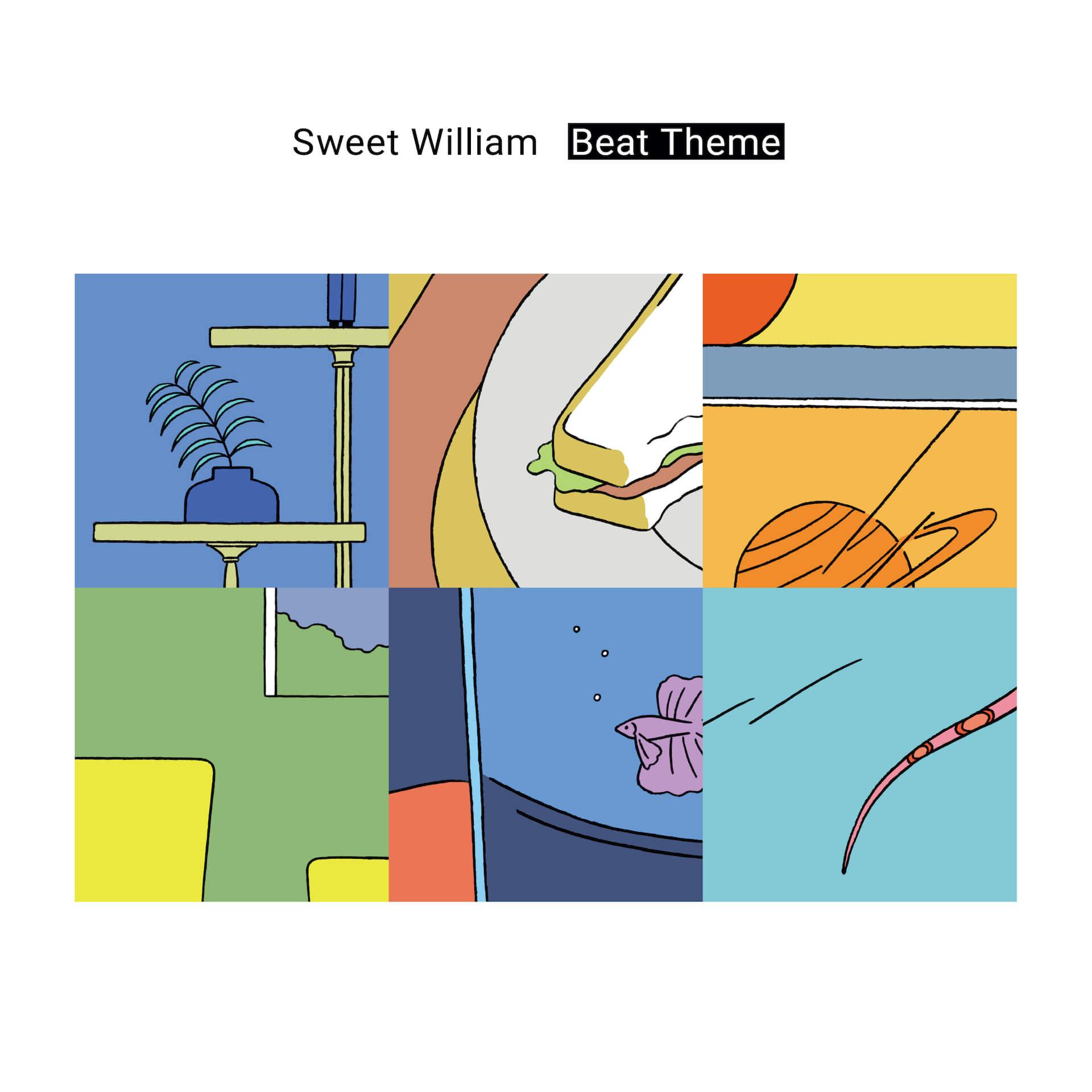 Sweet William新作アルバム『Beat Theme』が本日発売&全曲ループアニメーションも公開! 02-cd-jacket
