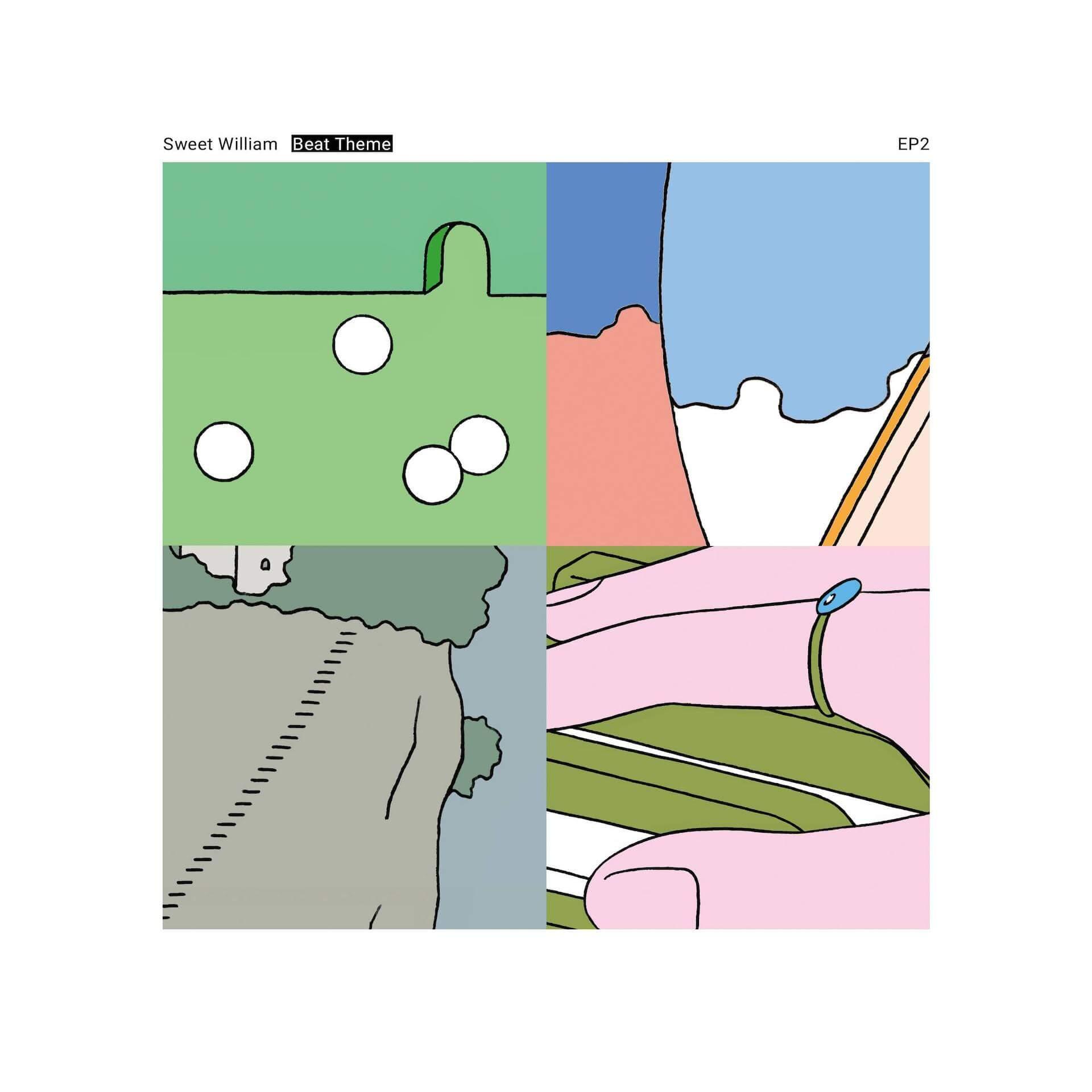 Sweet William新作アルバム『Beat Theme』が本日発売&全曲ループアニメーションも公開! 04-vinyl-jacket-EP2