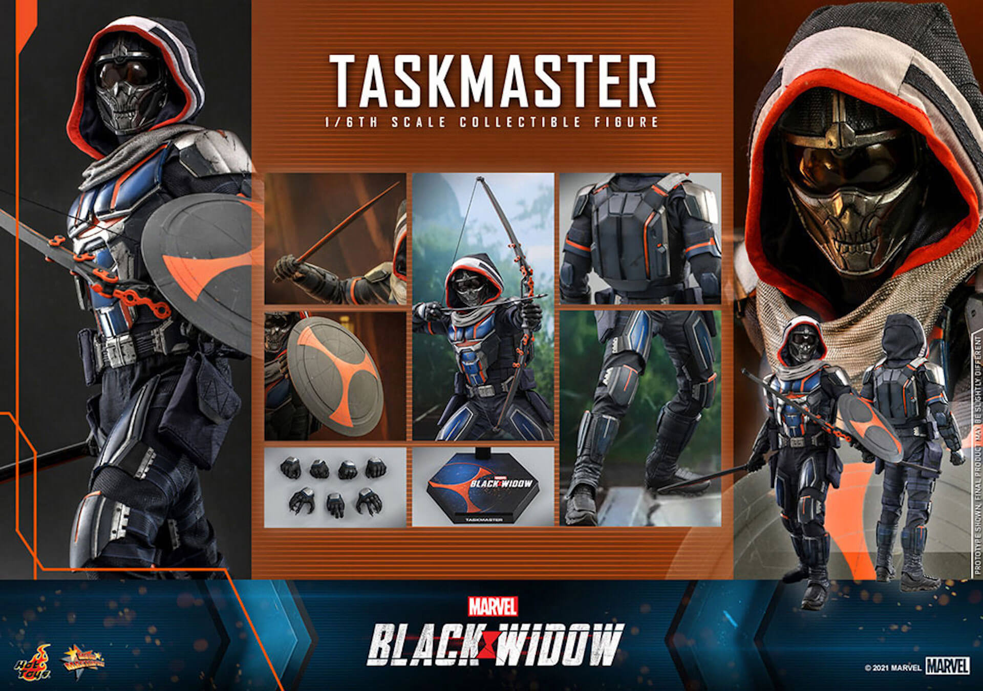 マーベル・スタジオ『ブラック・ウィドウ』のブラック・ウィドウ&タスクマスターがホットトイズの1/6スケールフィギュアになって登場! art210618_hottoys_blackwidow_1