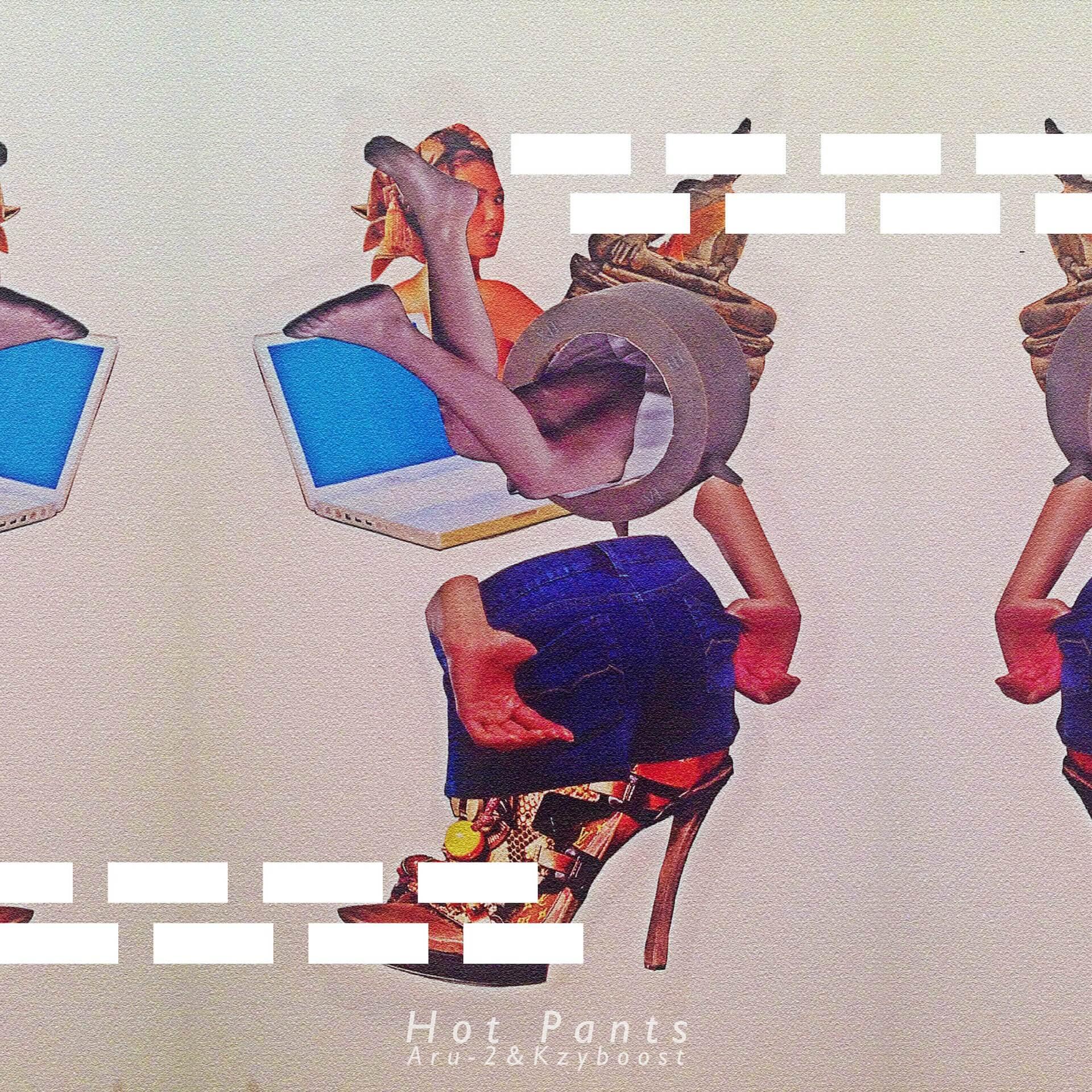Aru-2&Kzyboost『Hot Pants』のCDが〈Bastard Jazz〉と〈astrollage〉から日米合同でリリース決定! music210621_Aru-2-Kzyboos1
