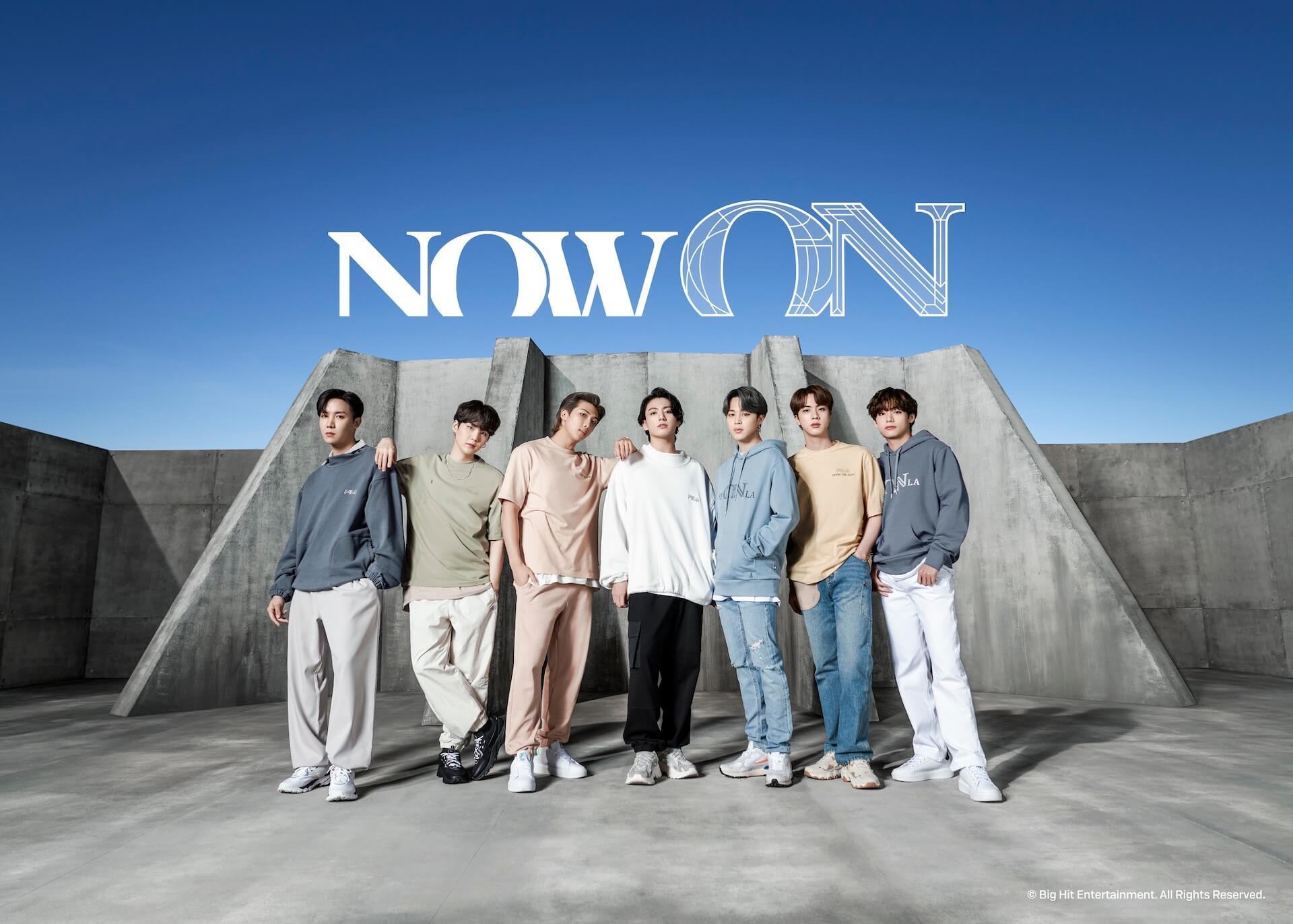 FILA × BTSの新コラボコレクション「Now ON」が今週先行予約販売開始!コラボ初のメンバー着用ビジュアルが解禁 life210621_fila_bts_1