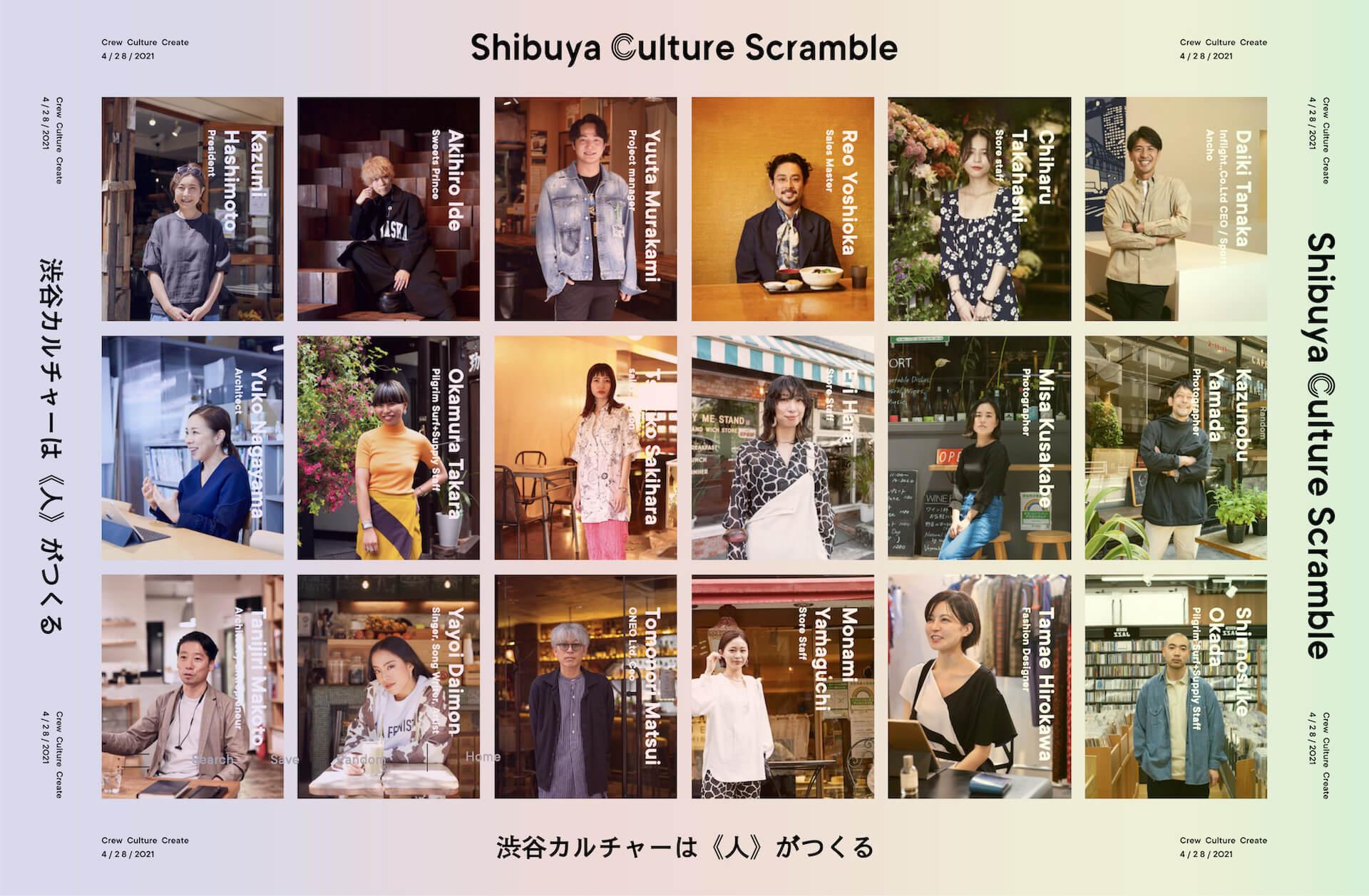 渋谷カルチャーは《人》がつくる!ウェブメディアプロジェクトShibuya Culture Scramble始動 culture210622_shibuyaculturescramble1