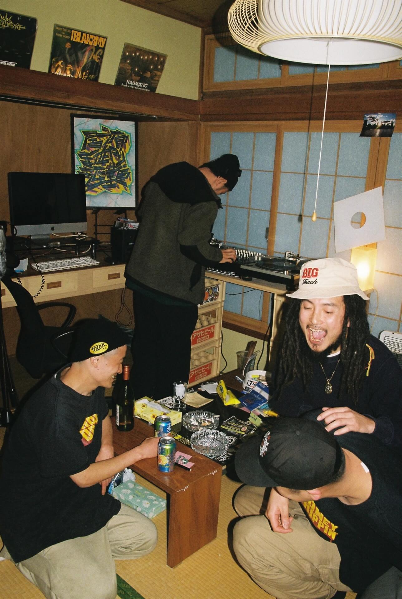 共にいる人たちへの郷愁──股旅(DUSTY HUSKY × DJ SHOKI × にっちょめ)、インタビュー interview2106-matatabi-dliprecords-2