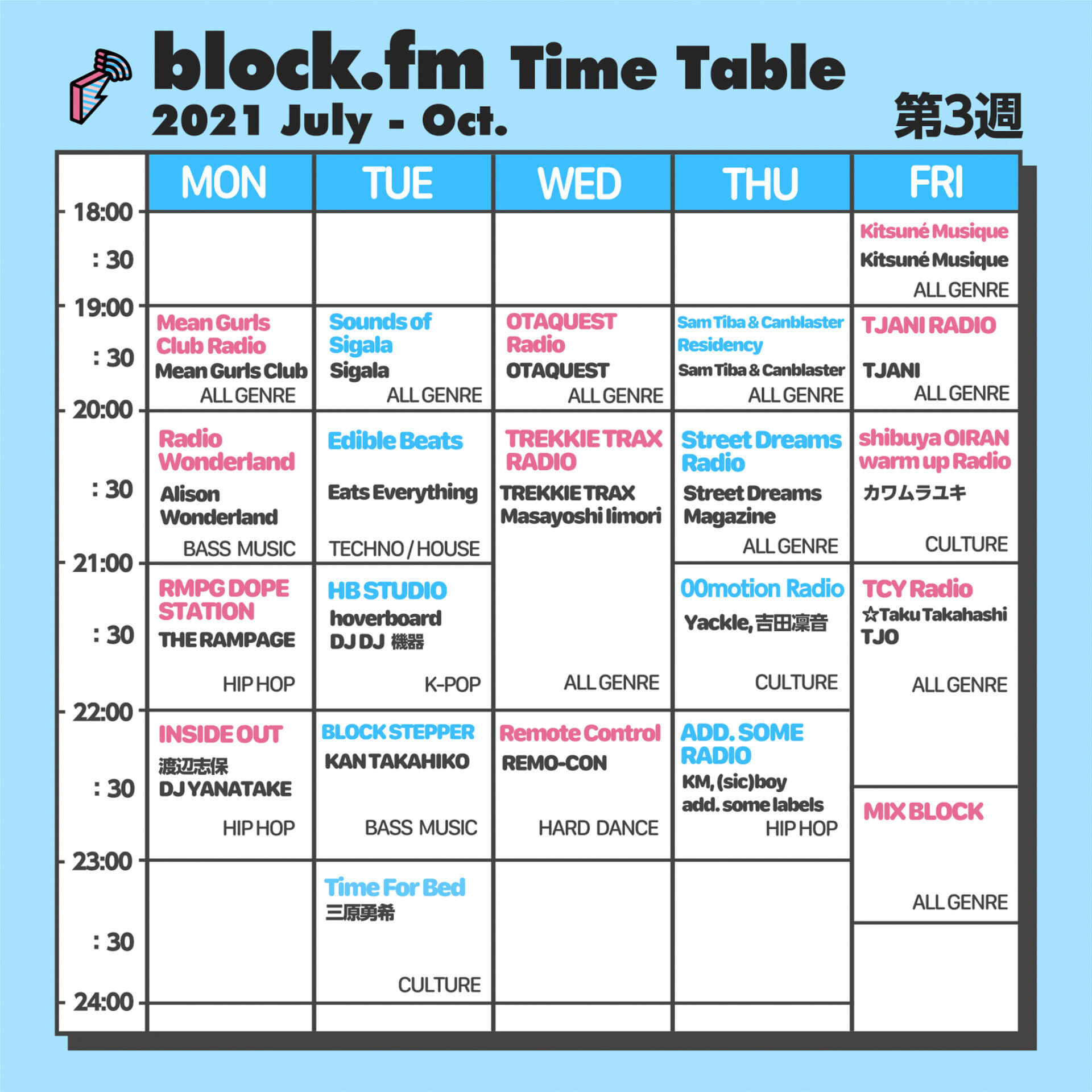 block.fmにて三原勇希のレギュラー番組『Time for Bed』が゙放送スタート!7月以降のラジオ放送スケジュールも公開 music_210702_Time-for-Bed7