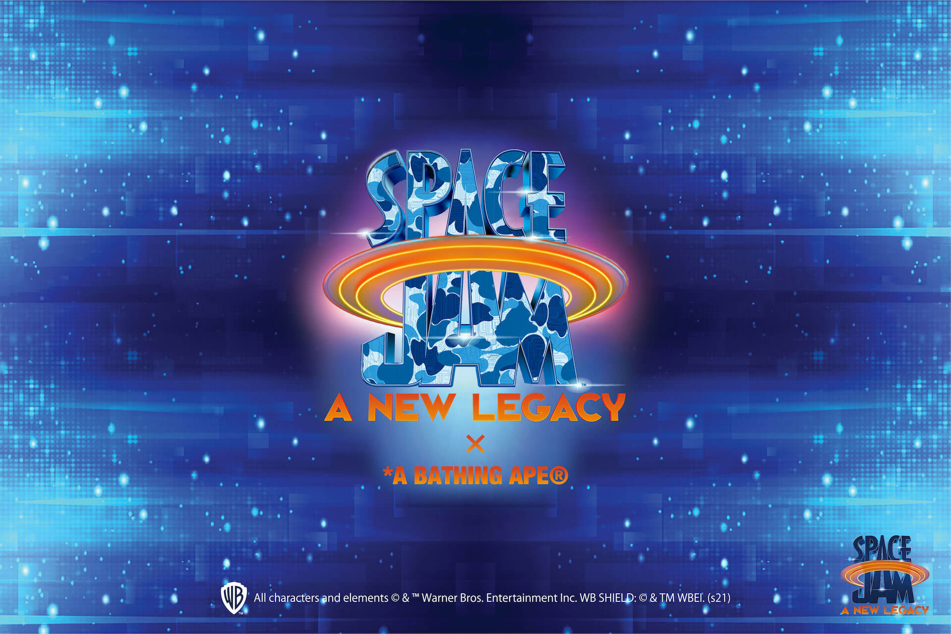 A BATHING APE(R)と 映画『SPACE JAM: A NEW LEGACY』のコラボコレクションが発売決定!モデルに八村阿蓮が起用 Fashion_210706_ape2